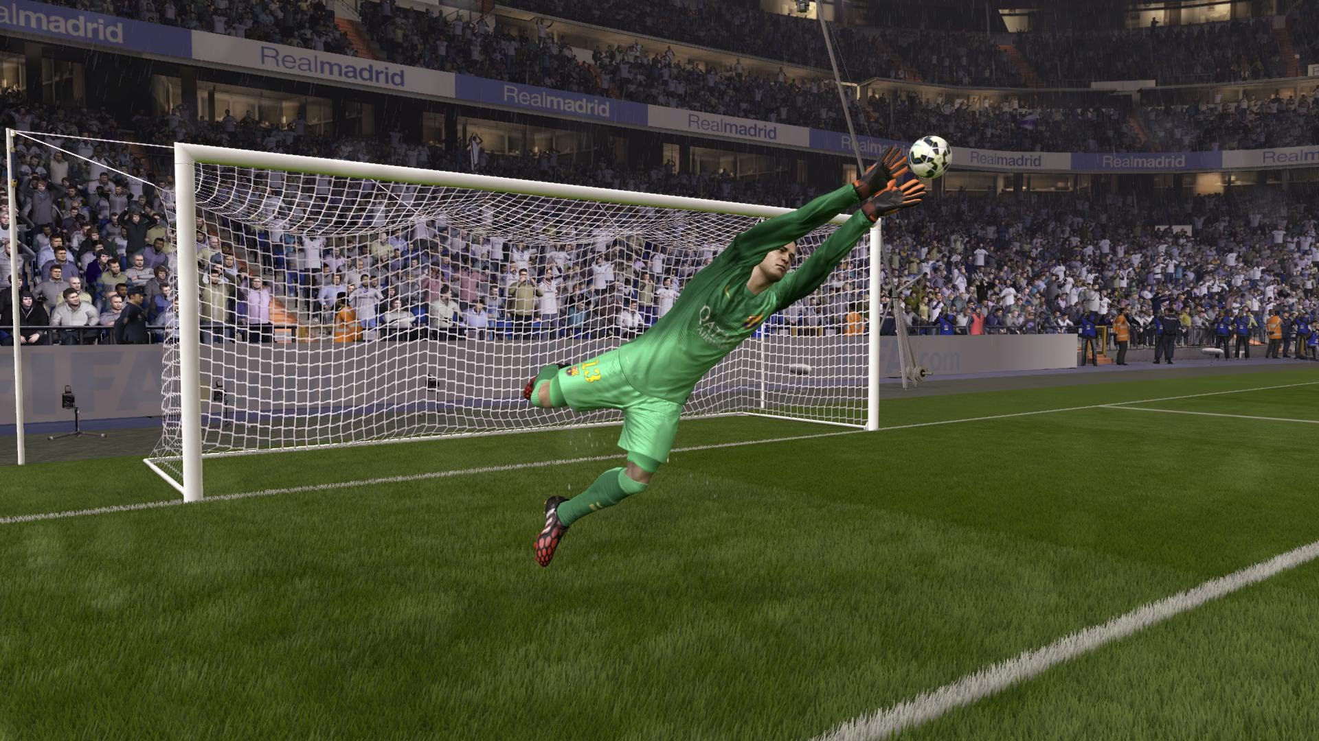 Goalkeeper saves photo