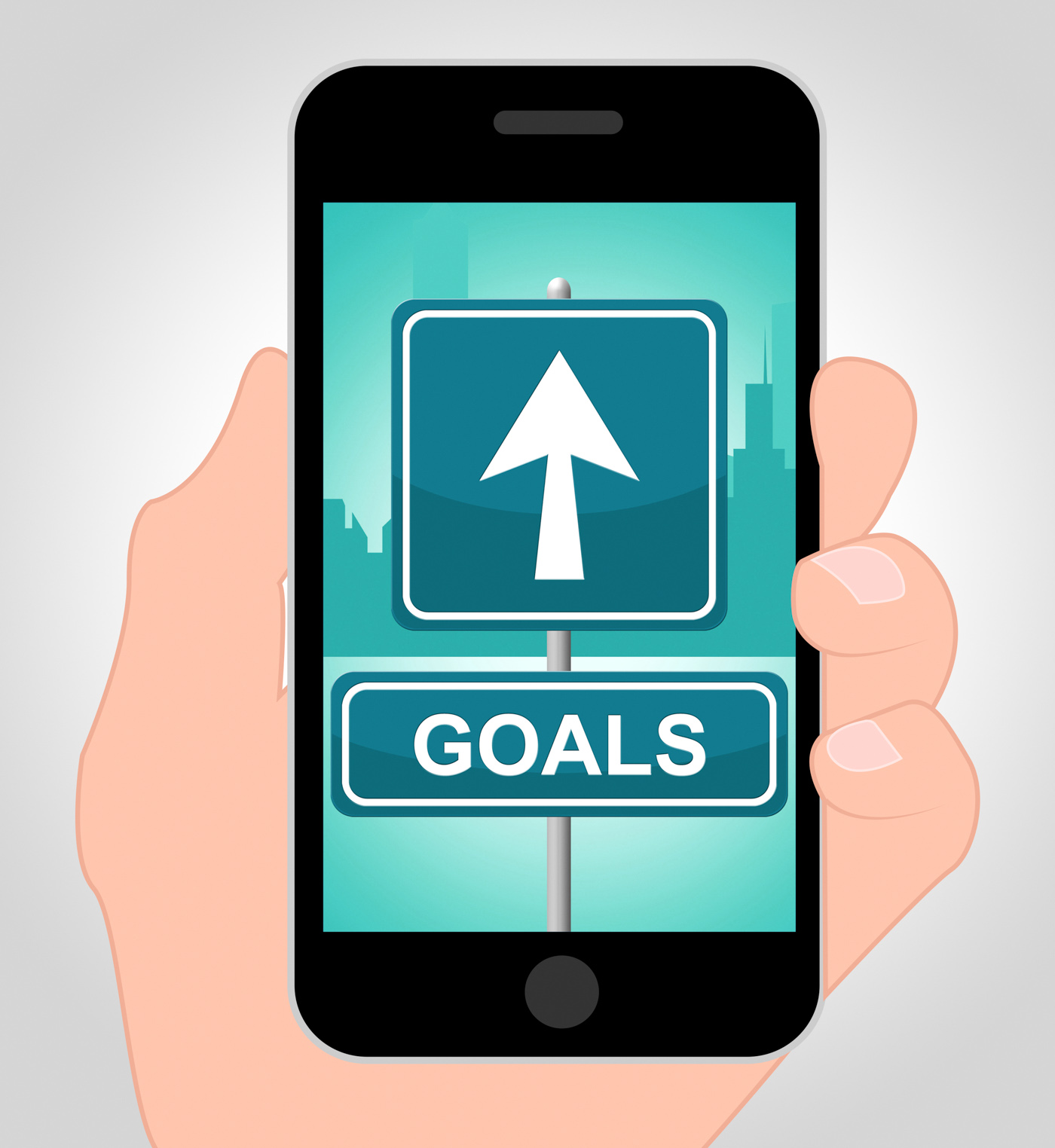 Goals Online Means Mobile Phone And Aim, Achieve, Scoring, Objective, Online, HQ Photo