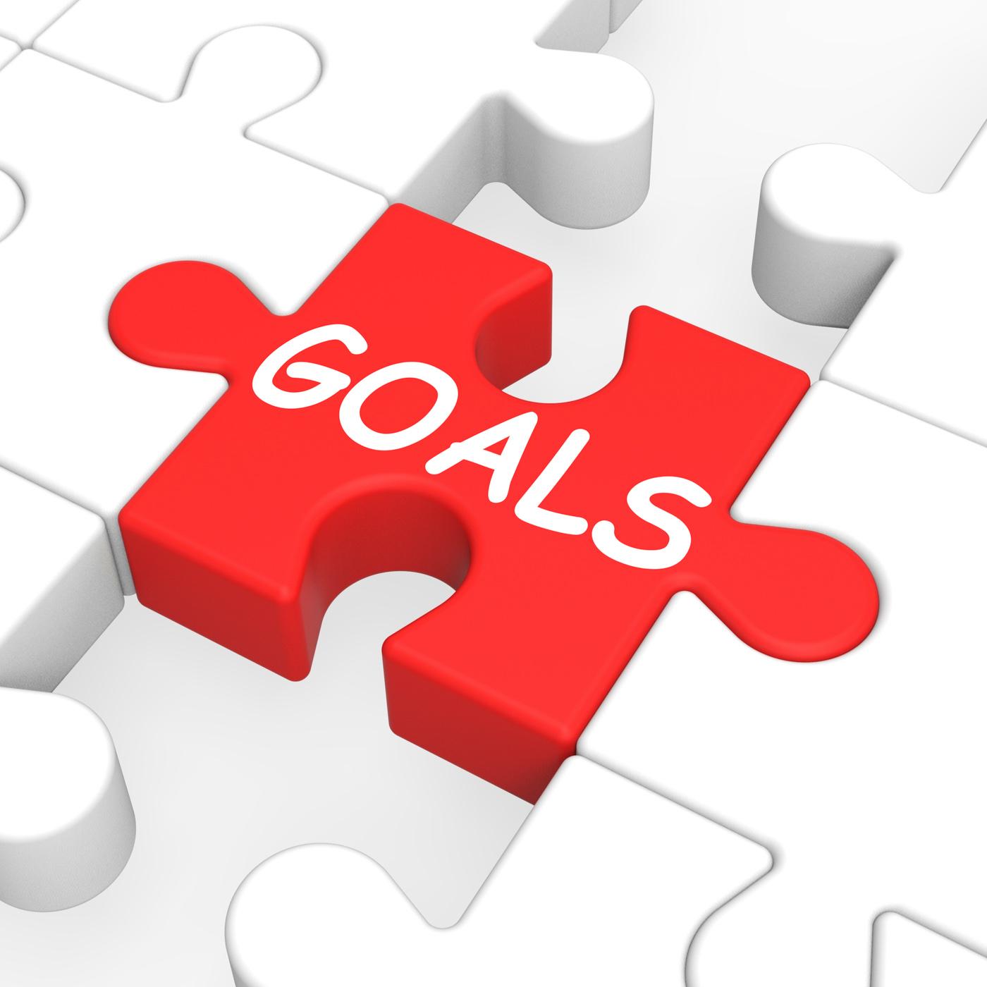 Goals puzzle showing aspiration targets photo