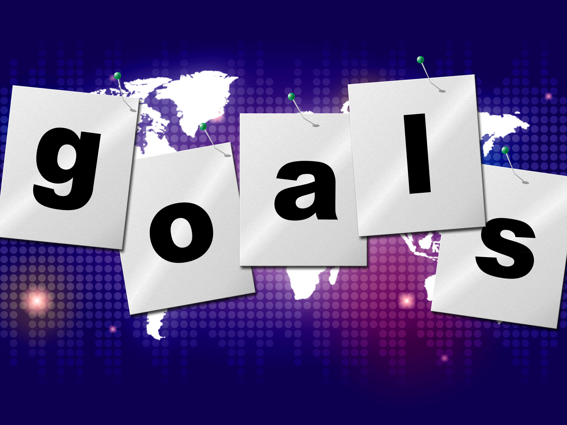 Goals targets indicates aspirations objectives and forecast photo