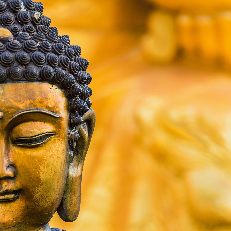 Golden buddha face photo