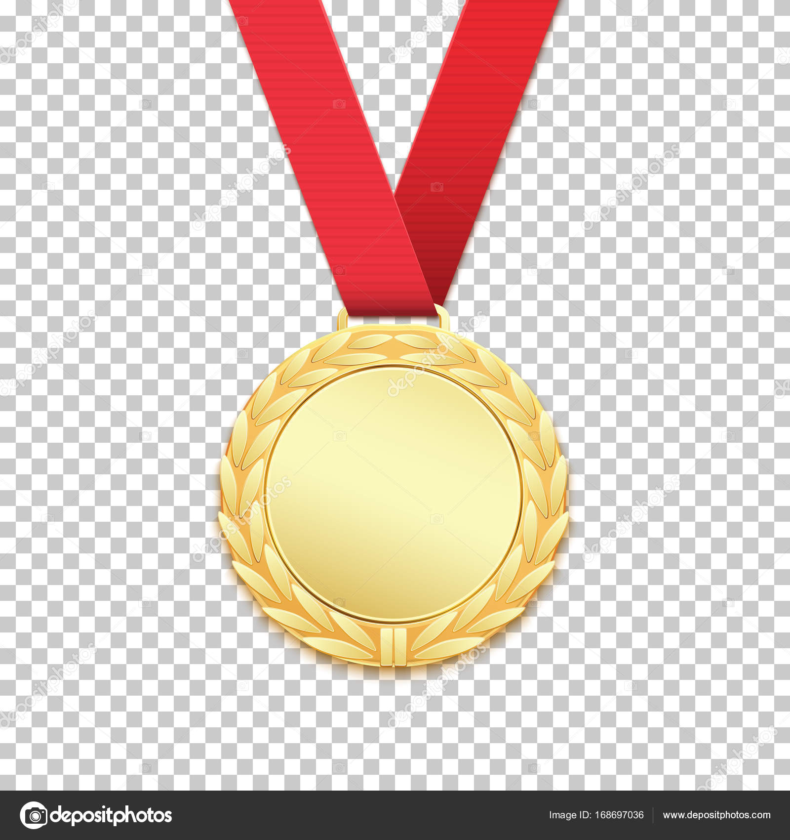 Gold medal isolated on transparent background. — Stock Vector ...