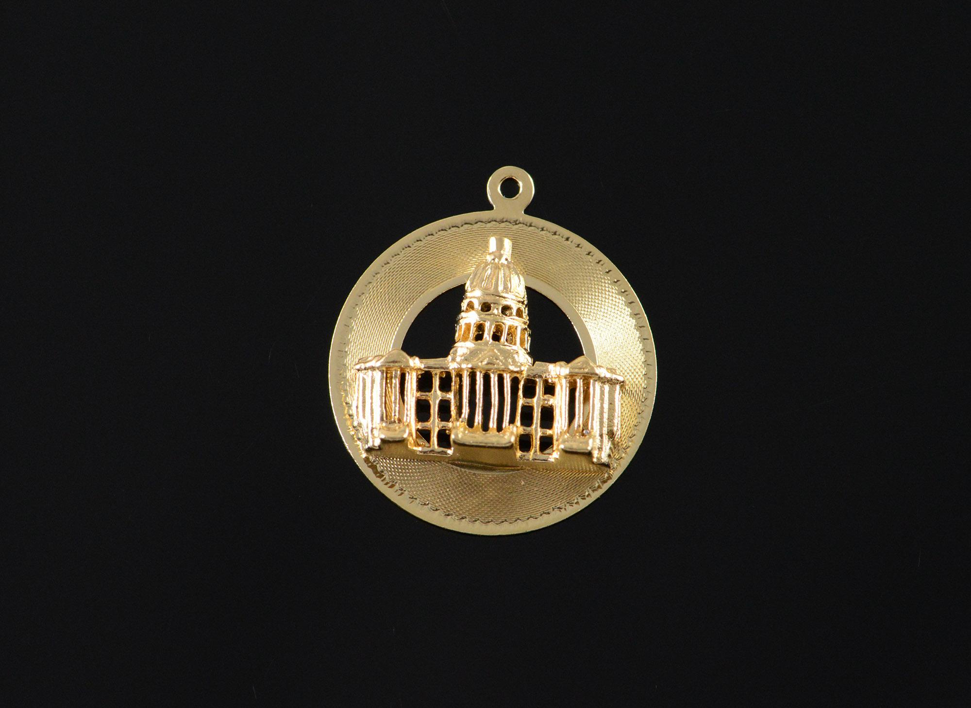 14K 3.9g Vintage Capitol Washington D.C. Building Vintage M&M Yellow ...