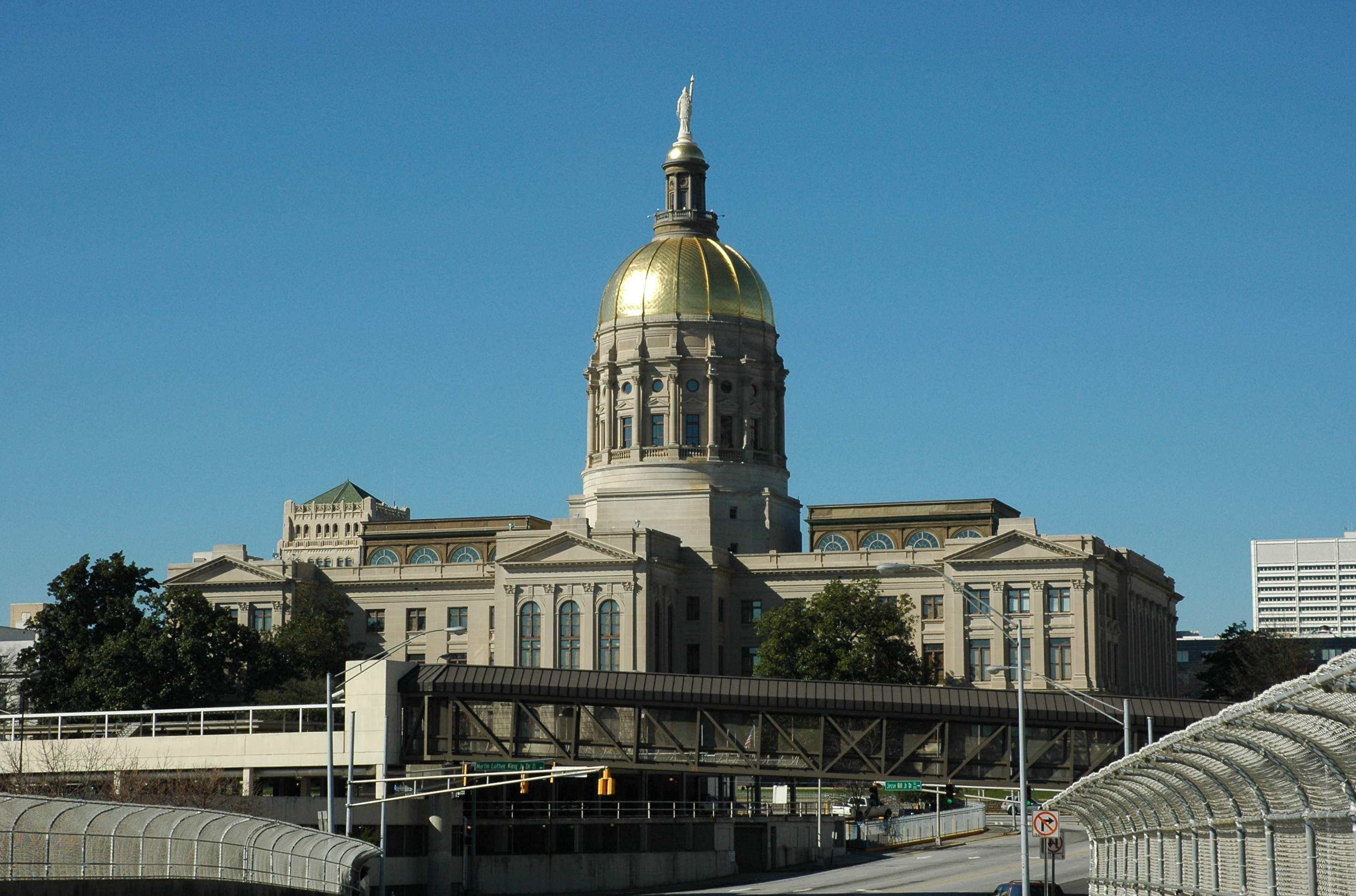 The Georgia State Capitol in Atlanta with the distinctive gold dome ...