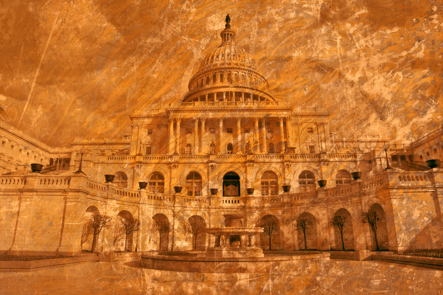 Gold Vintage Capitol, Abstract, Power, Shade, Scratches, HQ Photo