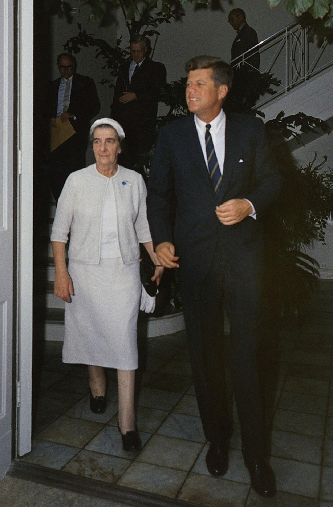 Golda Meir with Kennedy, America, F, John, Kennedy, HQ Photo