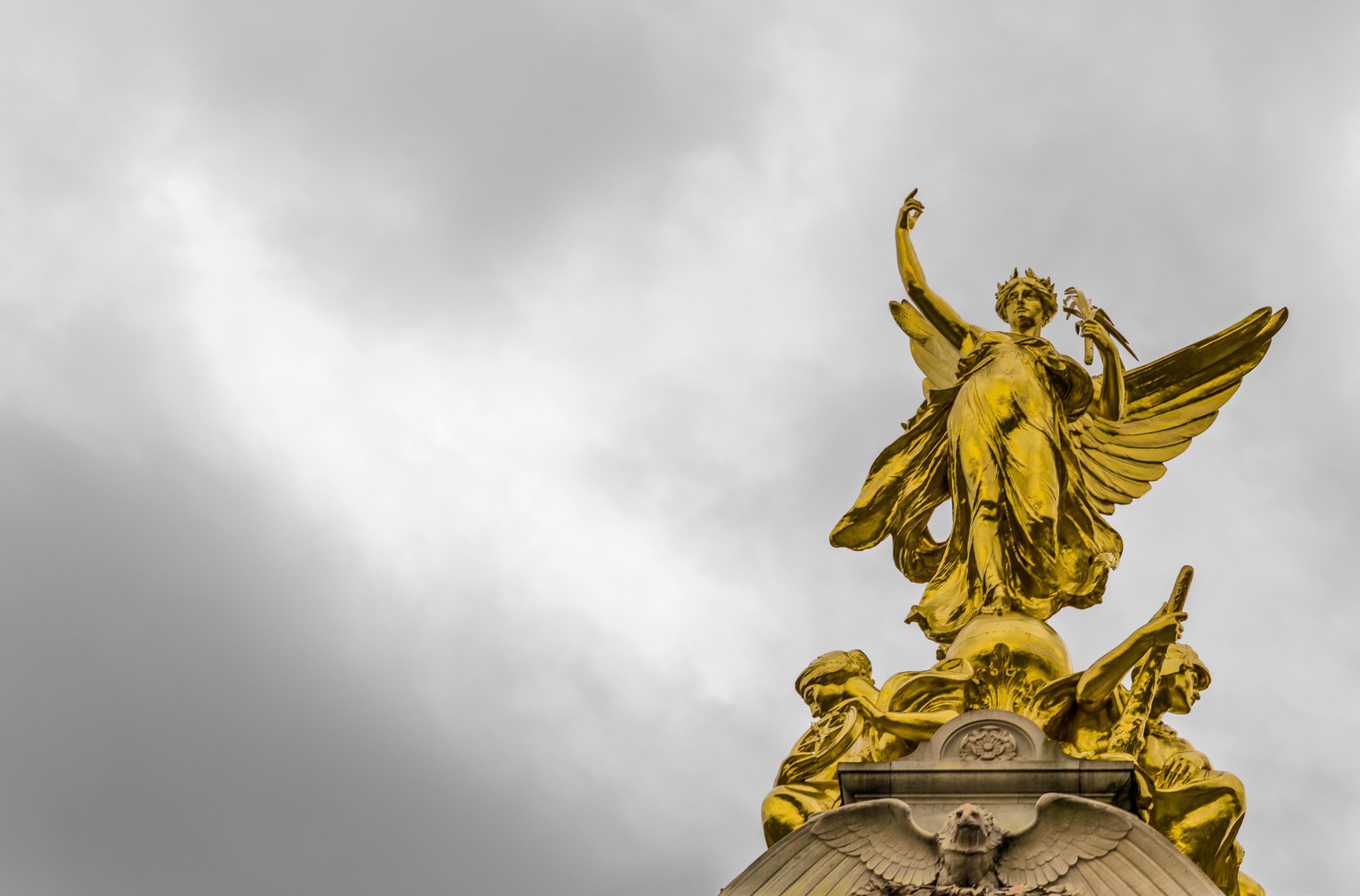 Golden Angel Statue, Angel, Golden, Religion, Statue, HQ Photo