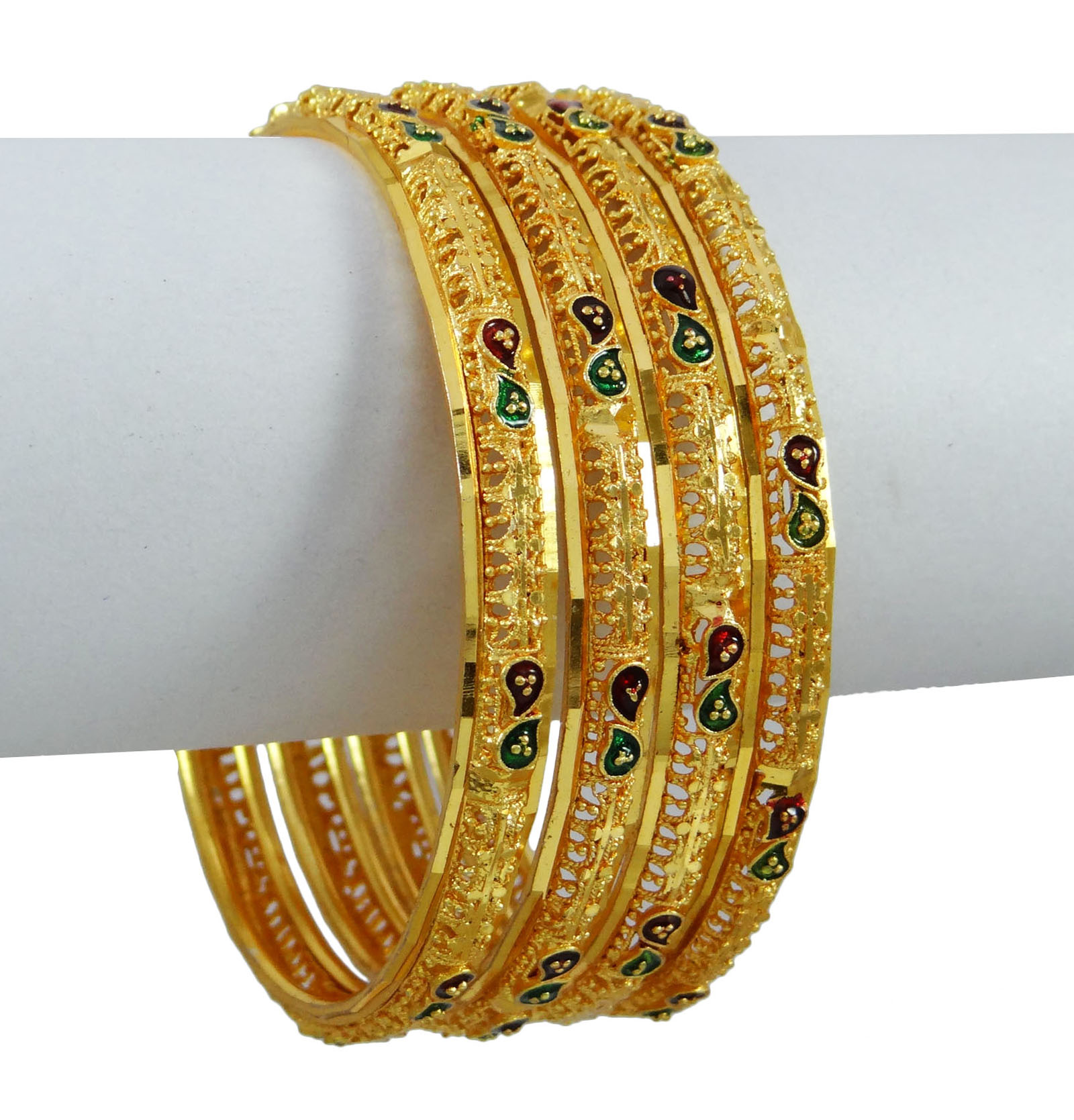 Indian Women Traditional Kada Bangle Set Wedding Bracelets Bridal ...