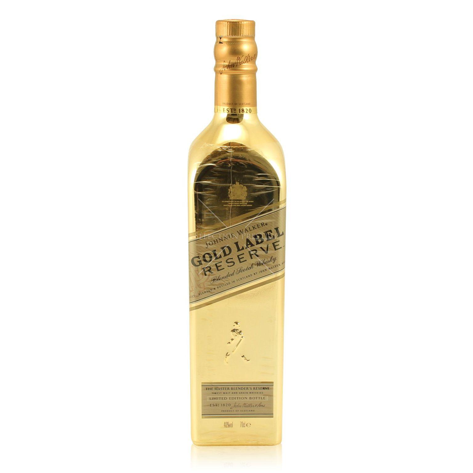 Johnnie Walker Gold Label Reserve Golden Bottle Limited Edition 0.7L ...