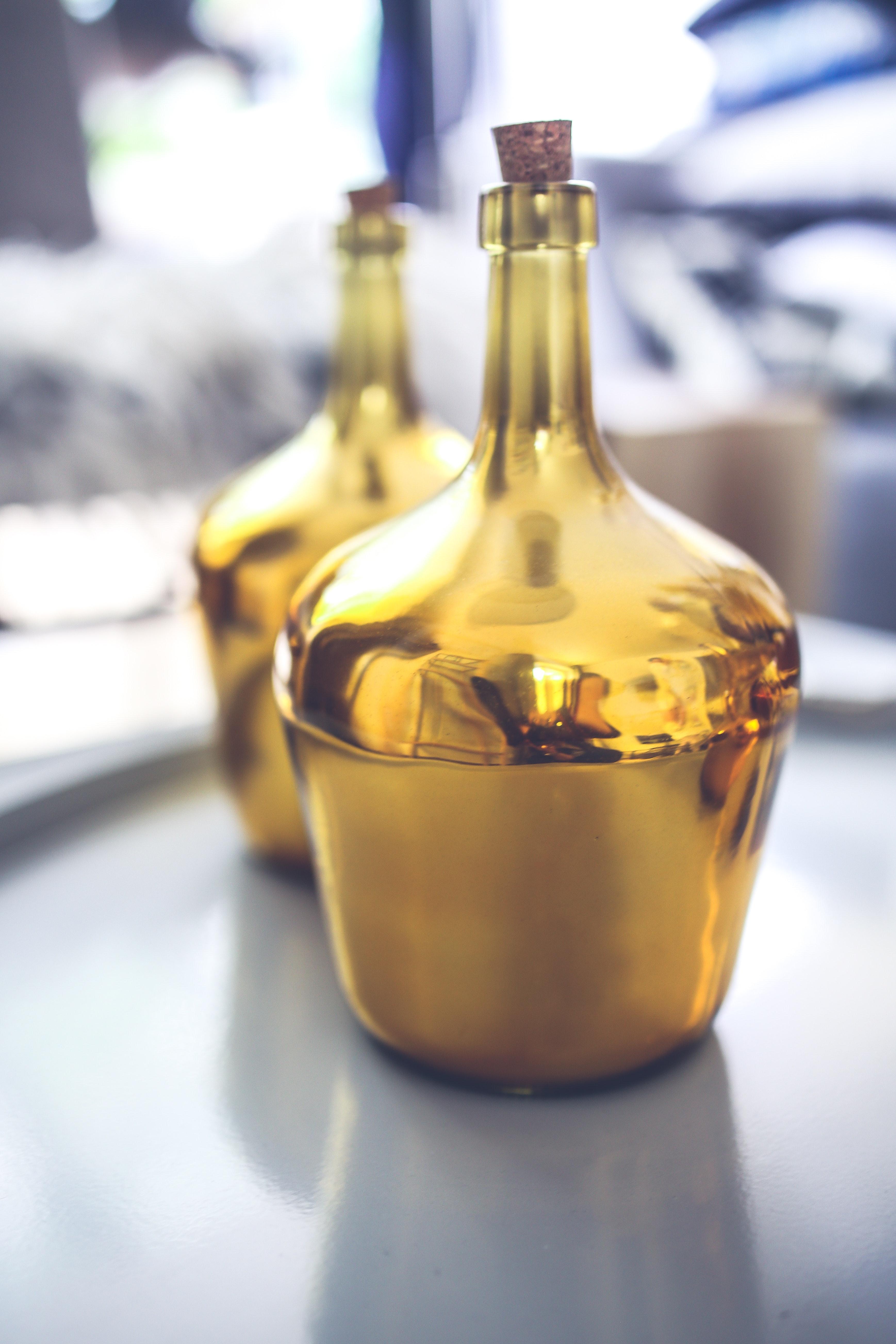 Golden bottle photo