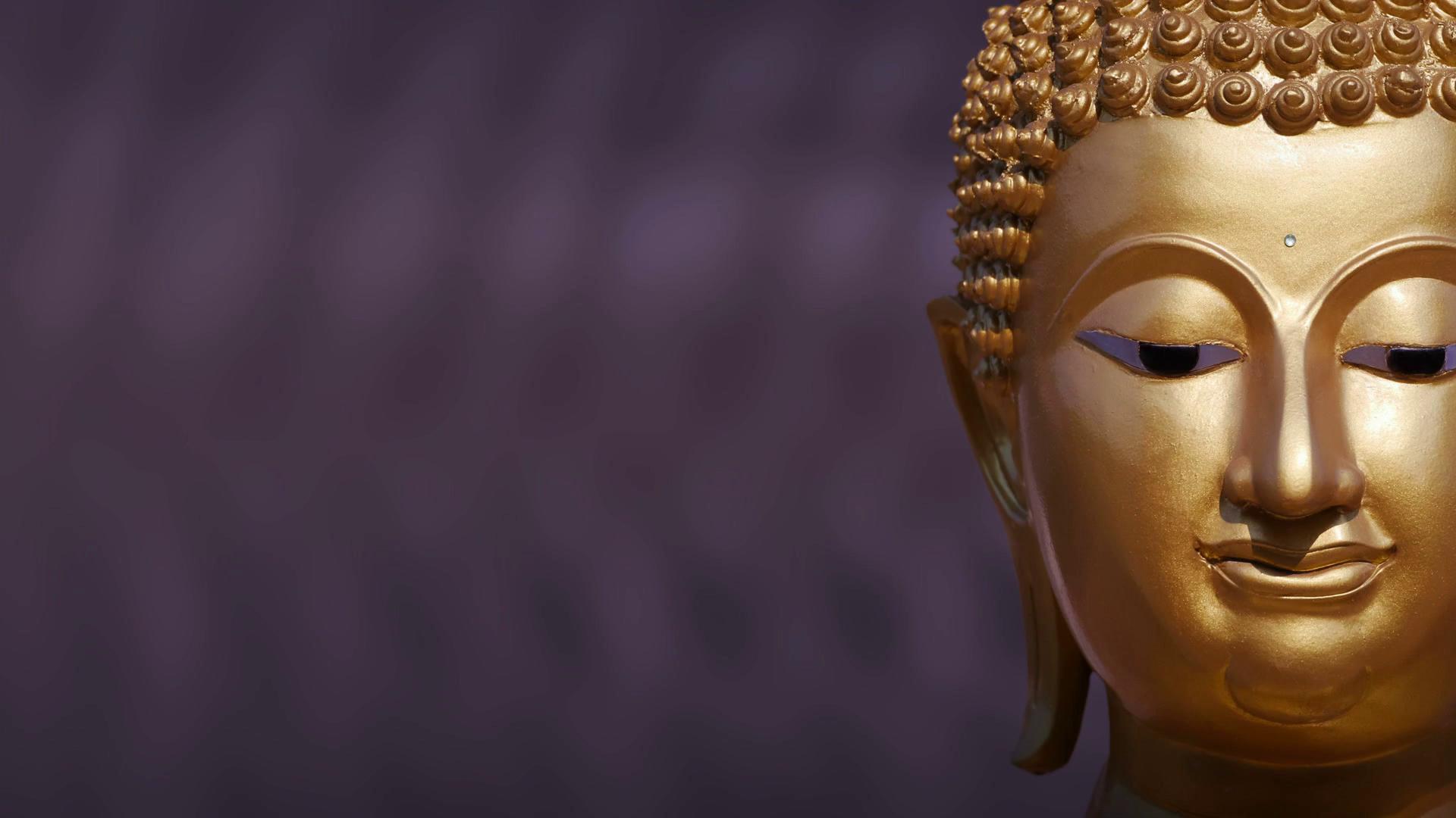 Golden Buddha statue close up ,Panning Stock Video Footage - Videoblocks