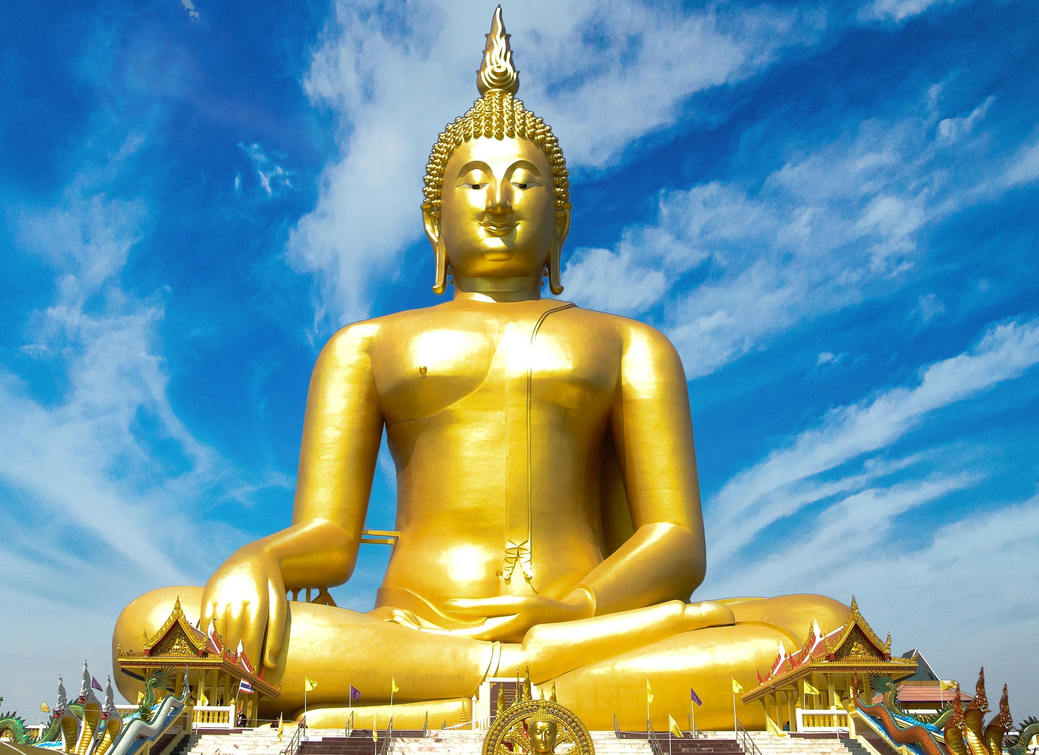 Golden Buddha Statue, Buddha, Buddhism, Golden, Religion, HQ Photo