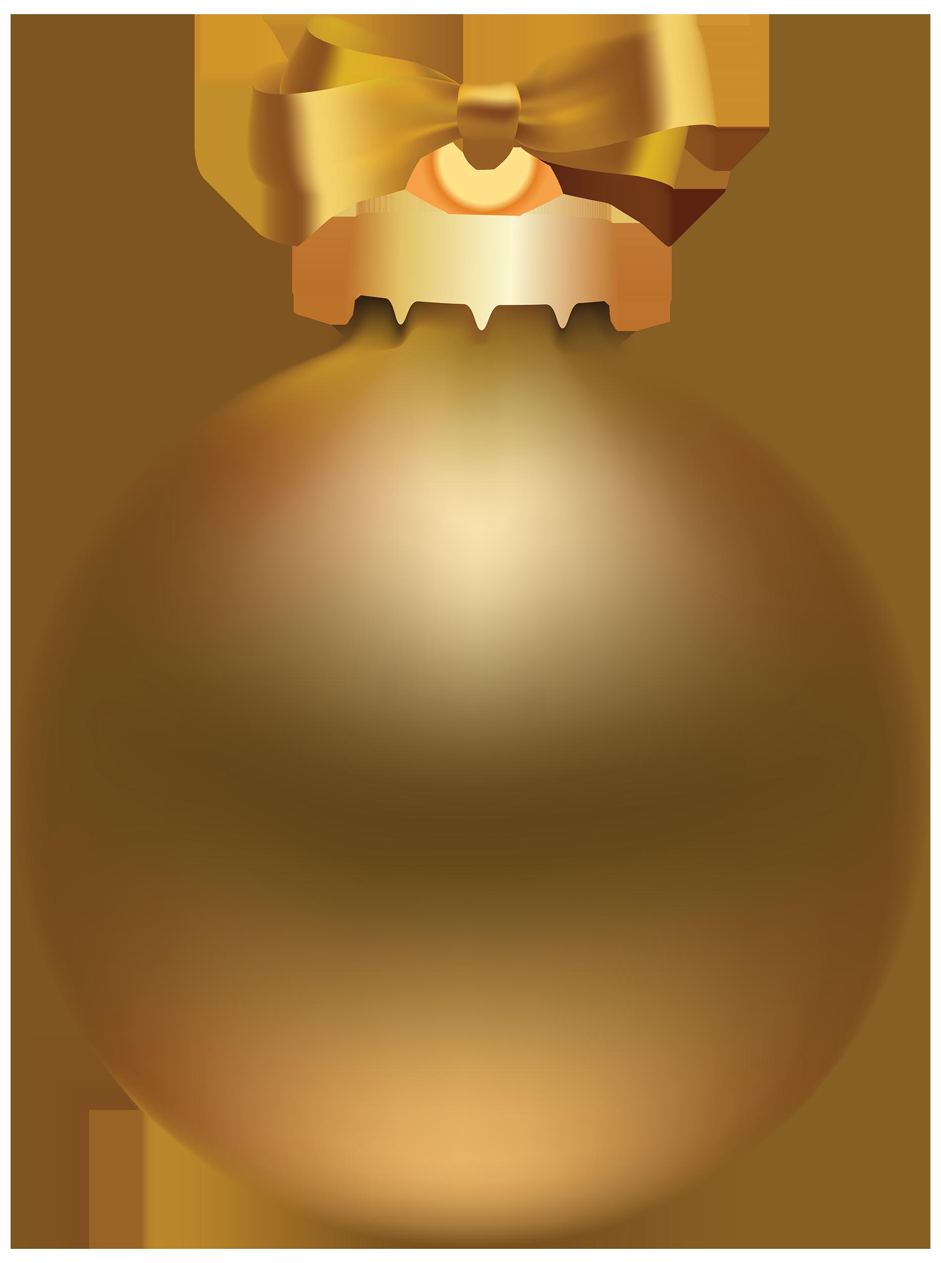 Golden christmas ball photo