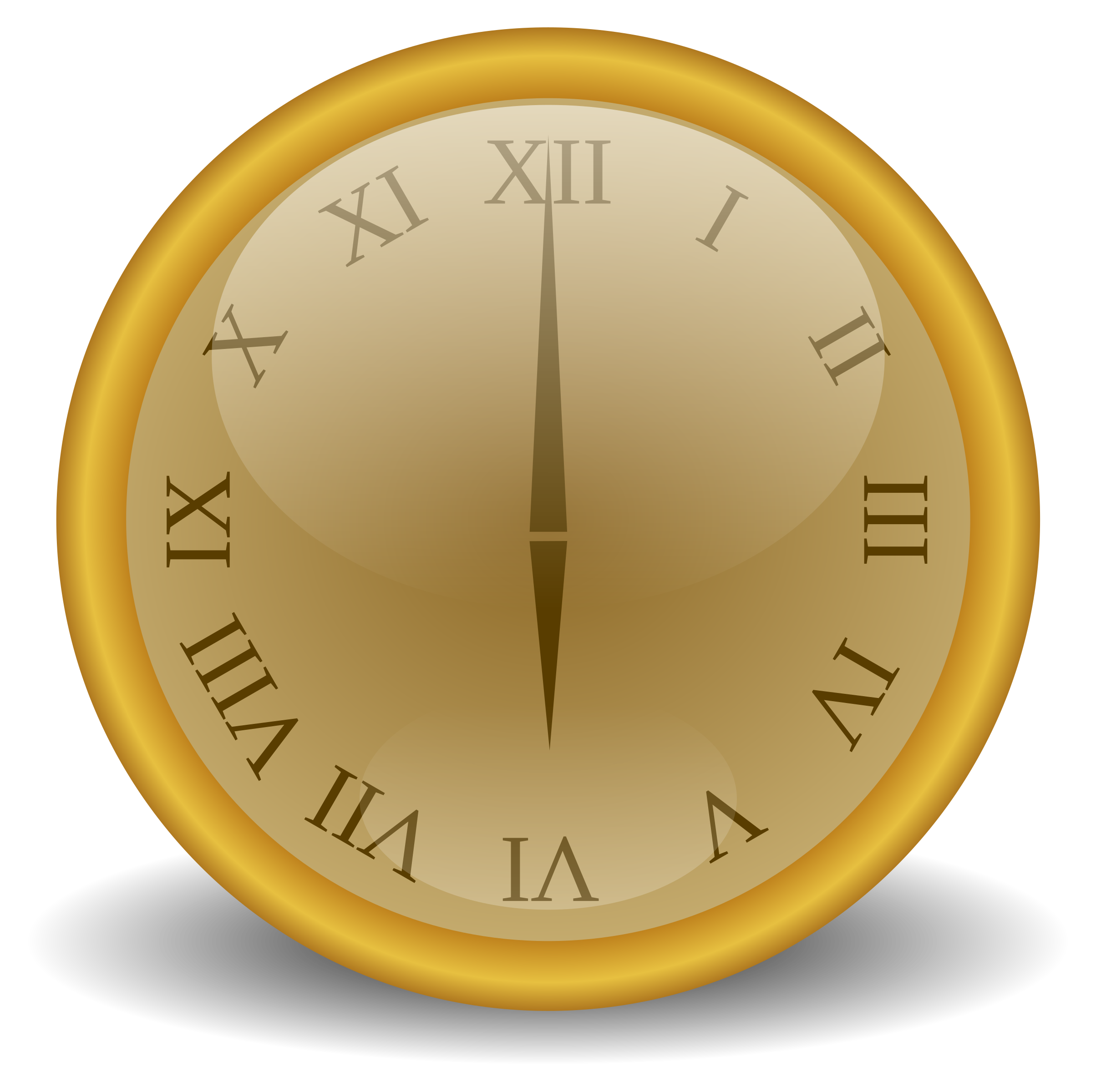 Golden clock Icons PNG - Free PNG and Icons Downloads