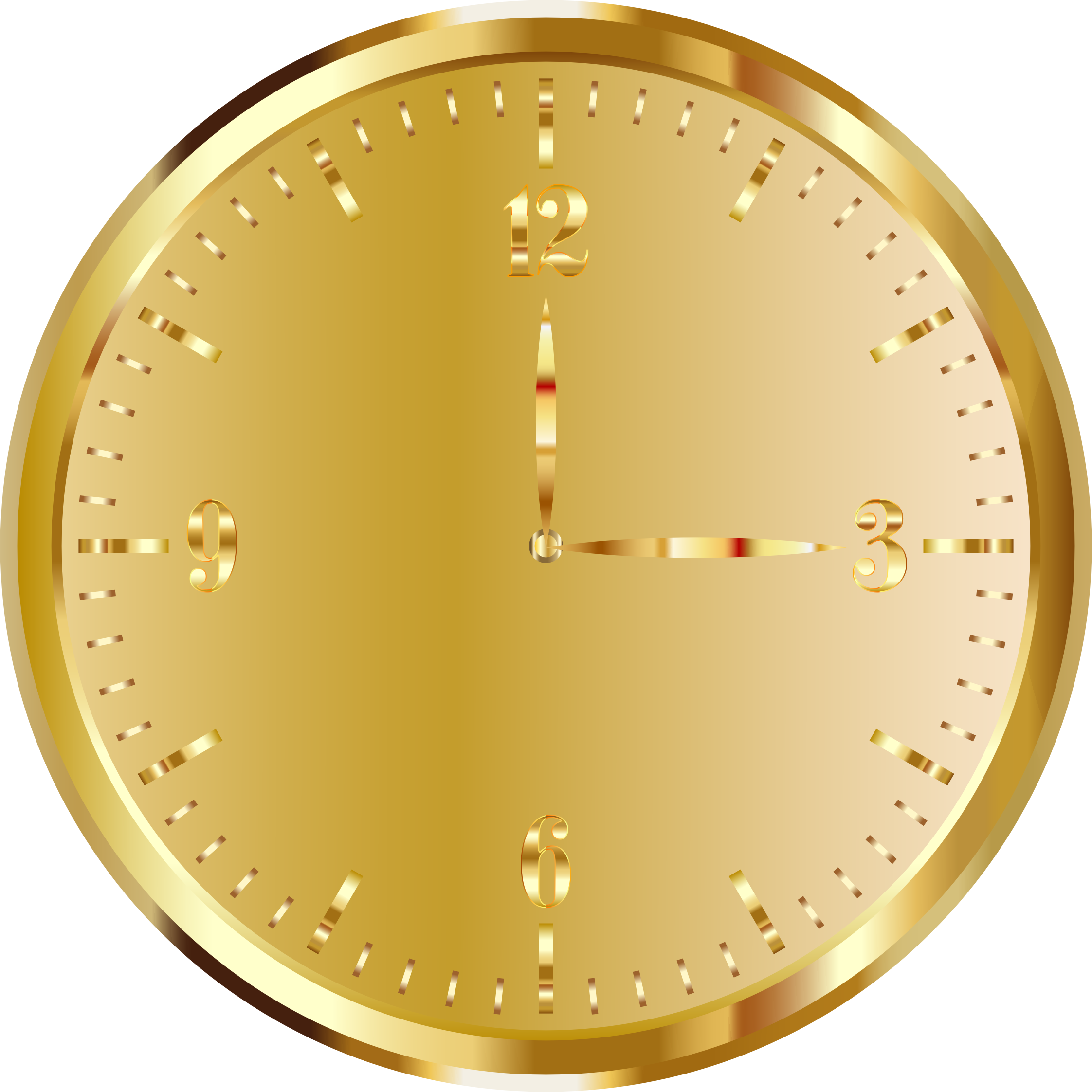 Clipart - Gold Clock