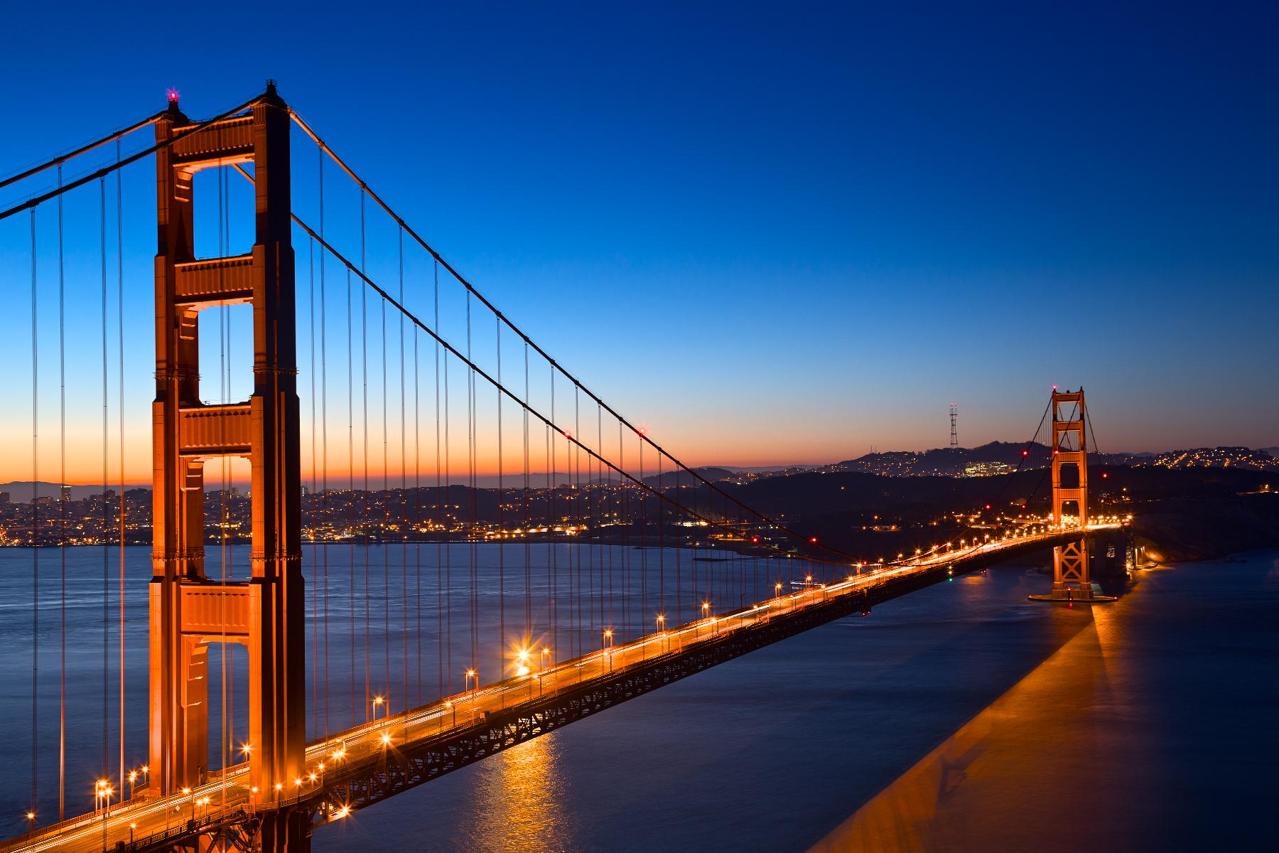 Golden Dawn Bridge - HDR, America, Resource, Sky, Sf, HQ Photo