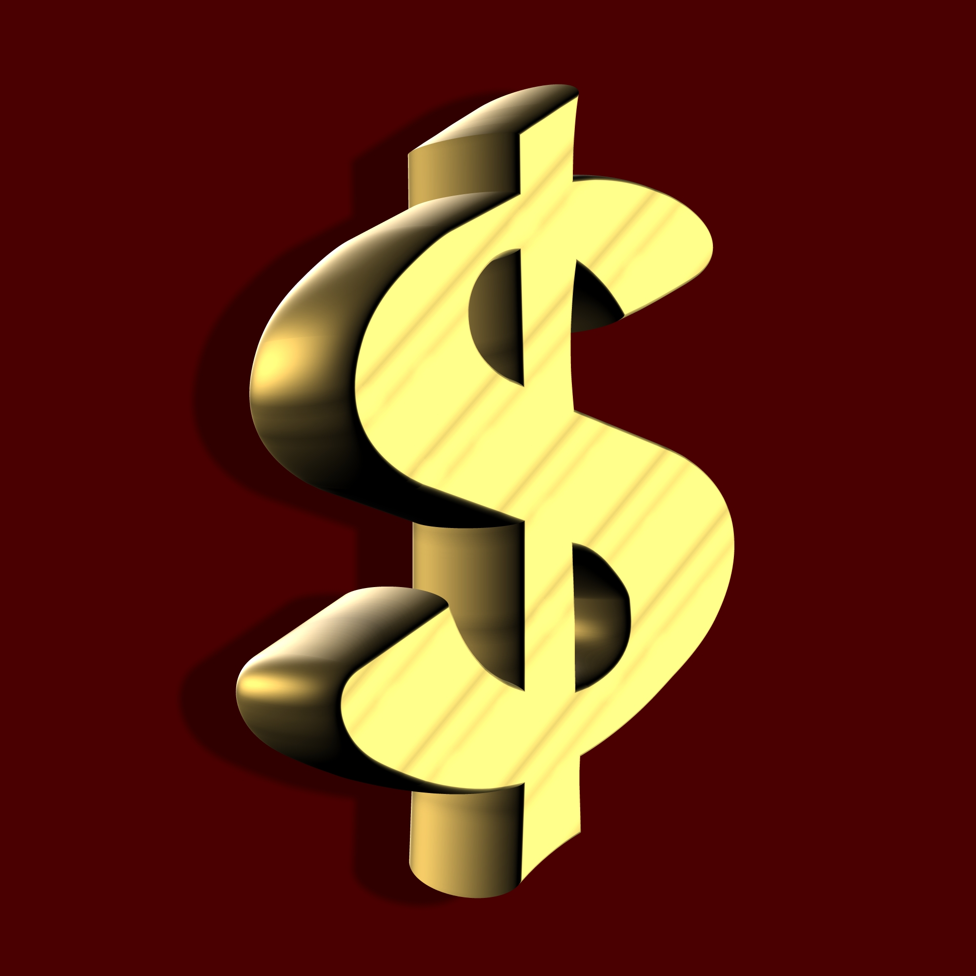 Golden Dollar Sign, Cash, Character, Currency, Dollar, HQ Photo