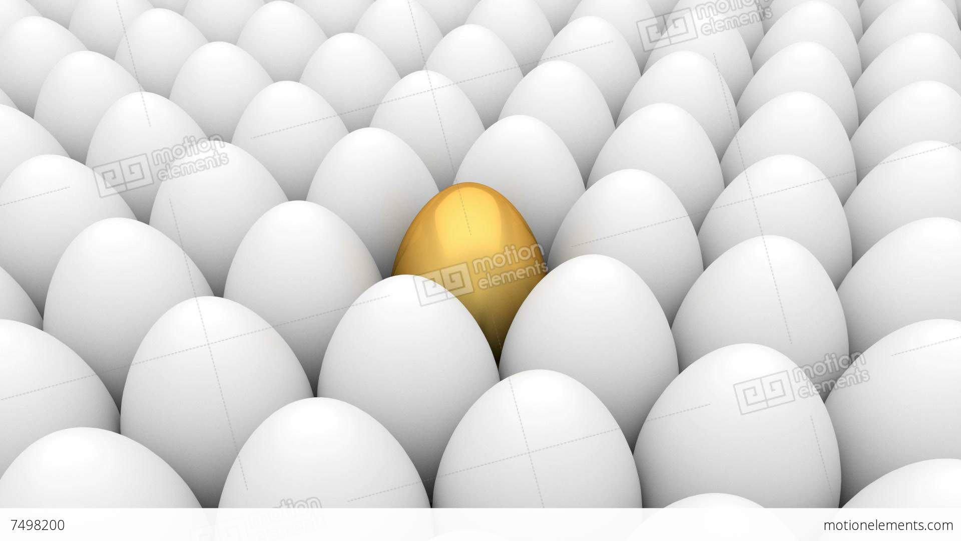 Golden Egg And White Eggs Stock Animation | 7498200