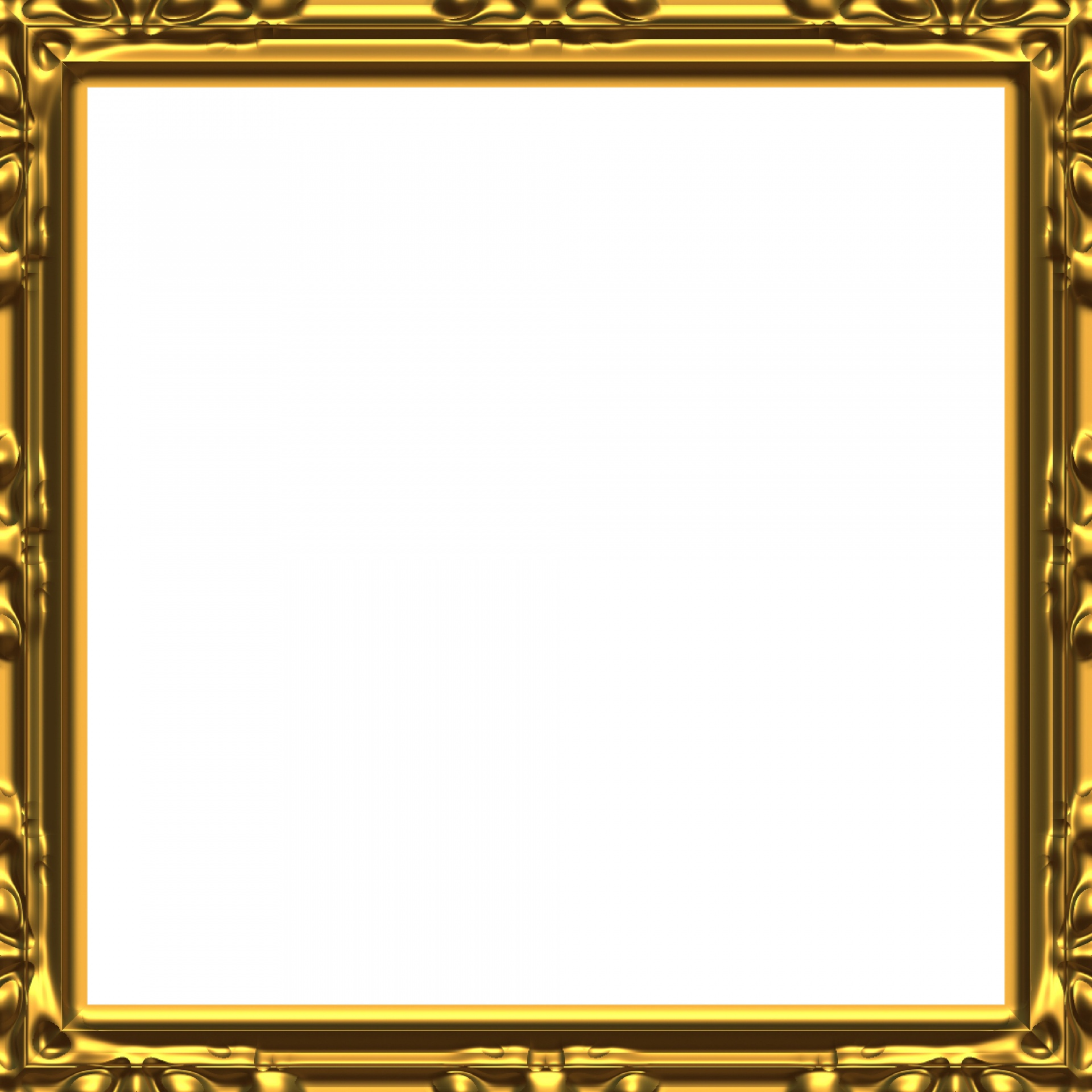 Baroque Golden Frame Free Stock Photo - Public Domain Pictures