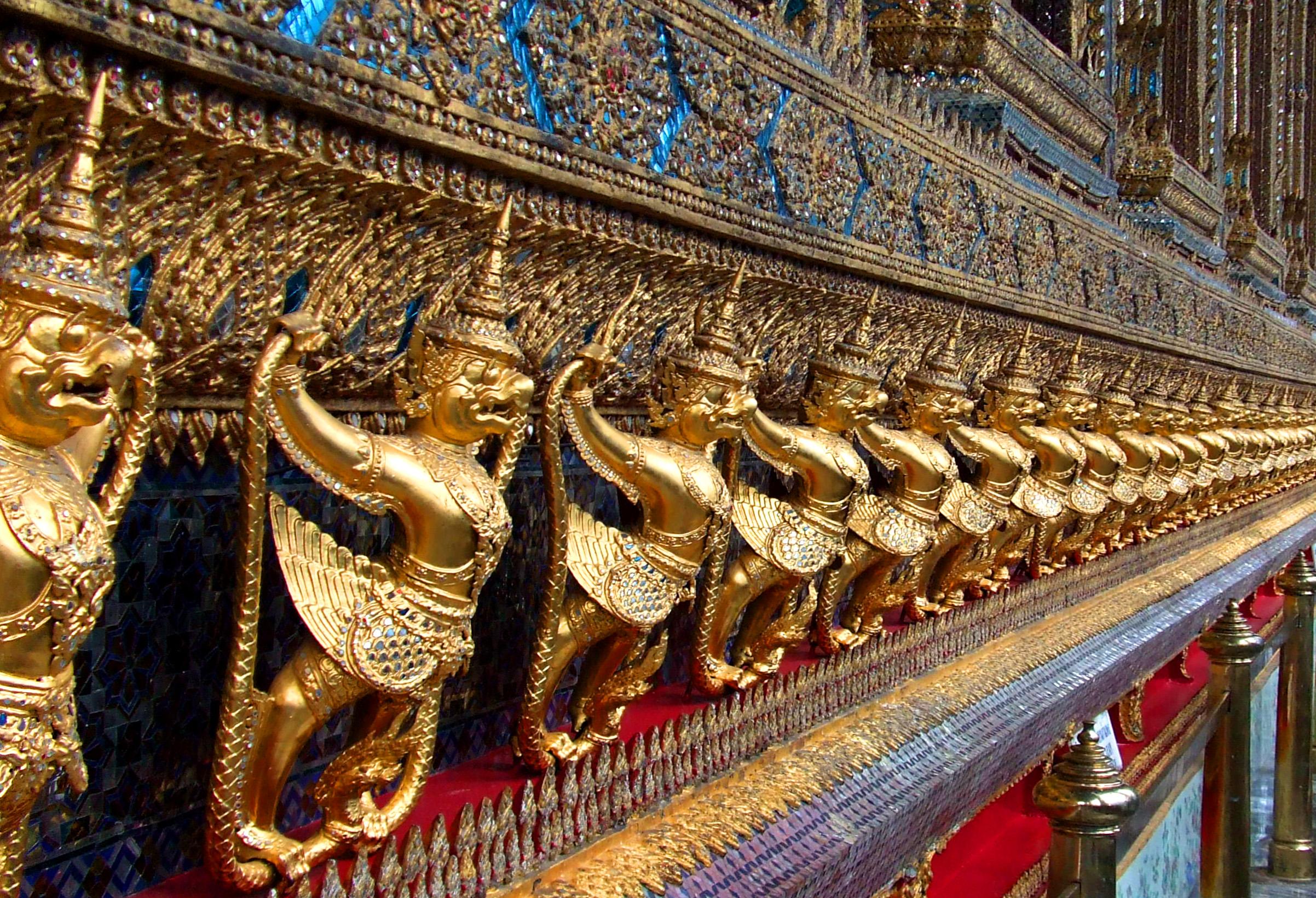 Golden Garuda at Wat Phra Kaew, Religion, Religious, Sculpture, Palace, HQ Photo