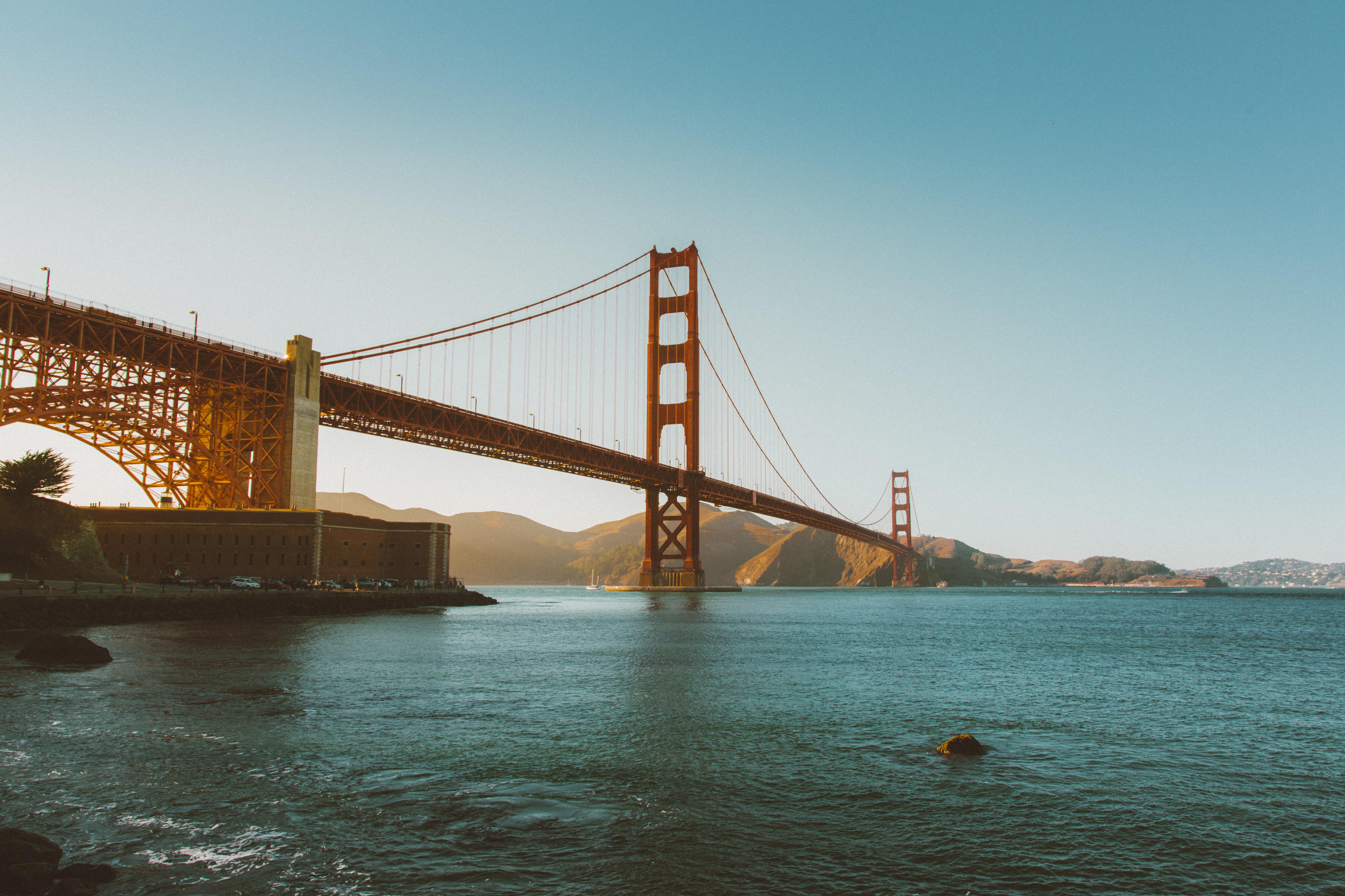Golden Gate, Architecture, Blue, Bridge, Engineering, HQ Photo