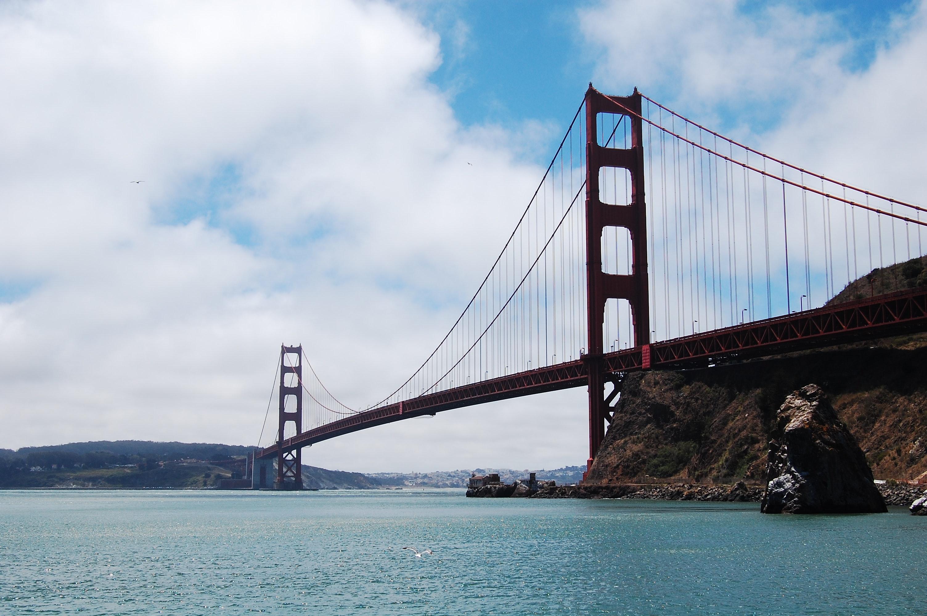 Golden Gate Bridge during Daytime, Architecture, Landscape, Travel, Suspension bridge, HQ Photo