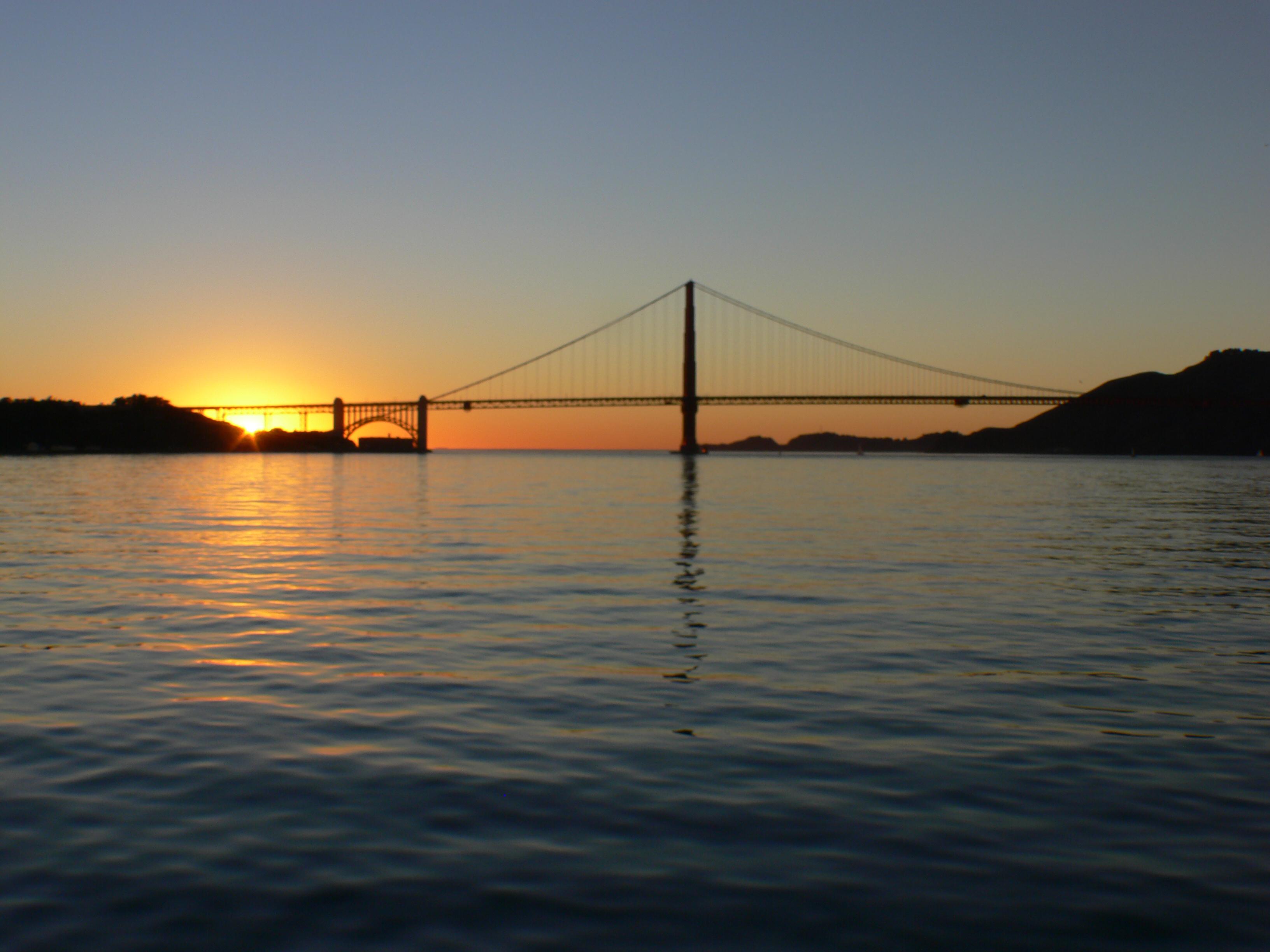 Golden gate sunset. photo