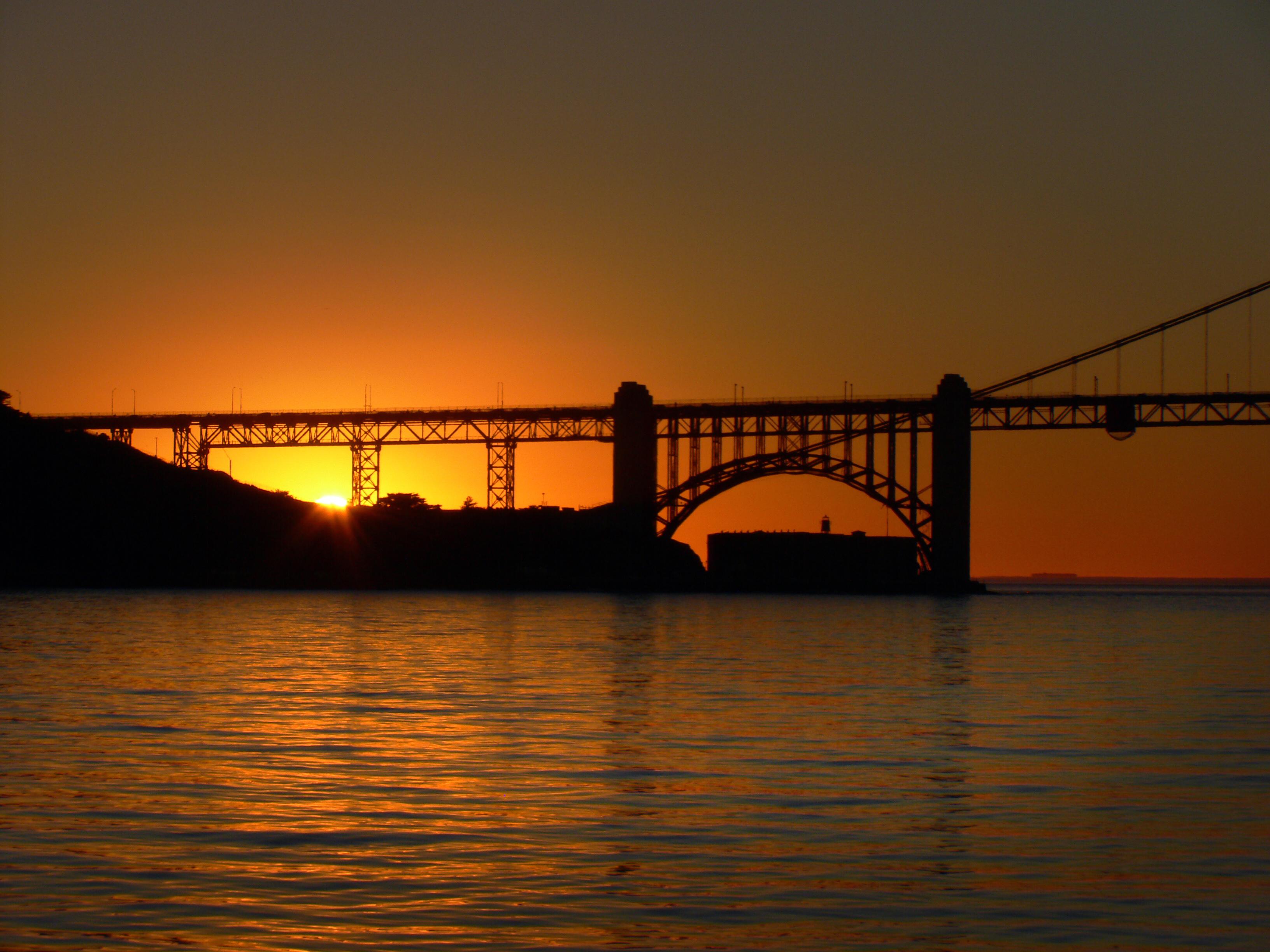 Golden Gate Sunset., Architecture, Bridge, Dusk, Free photos, HQ Photo