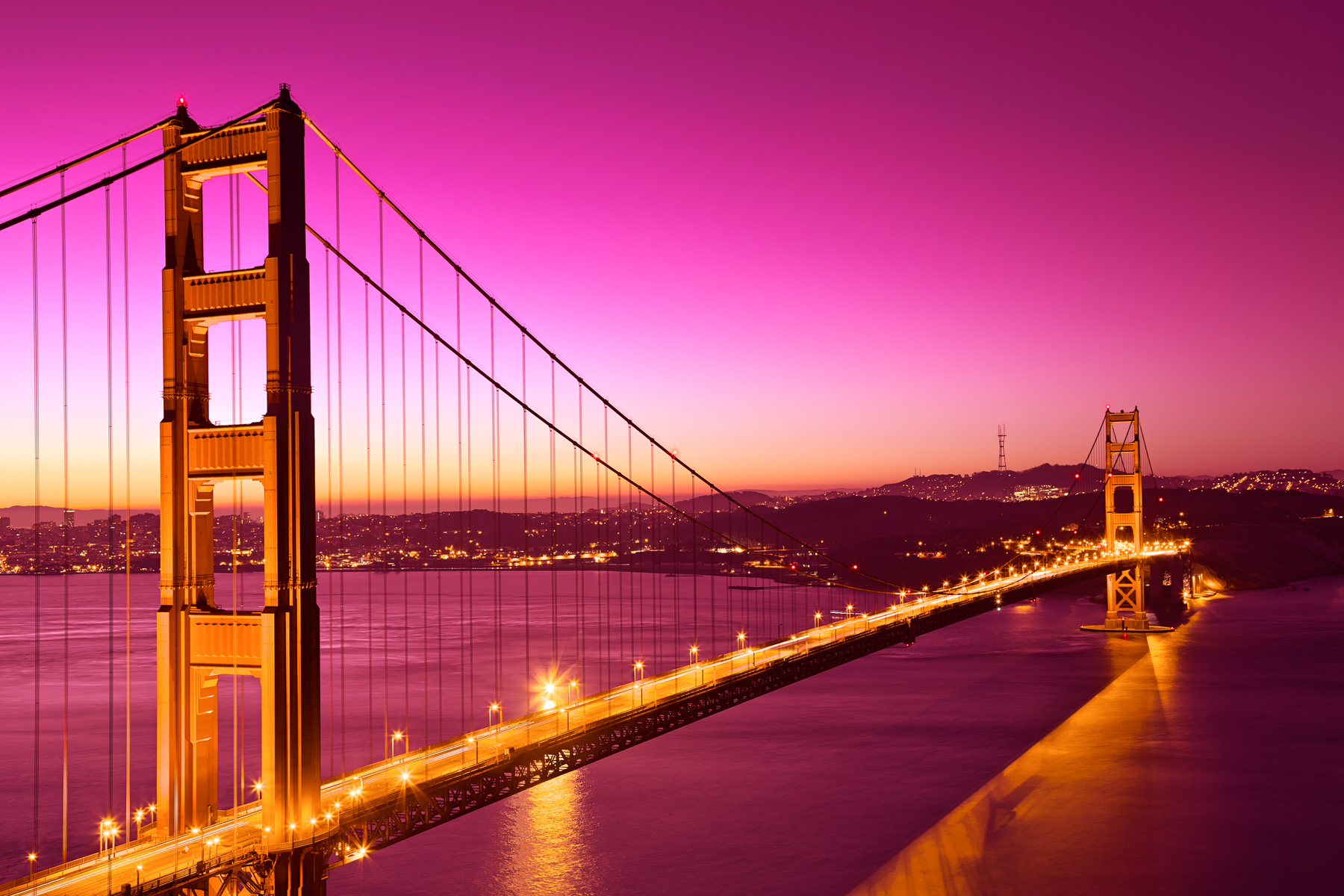 Golden love bridge - hdr photo