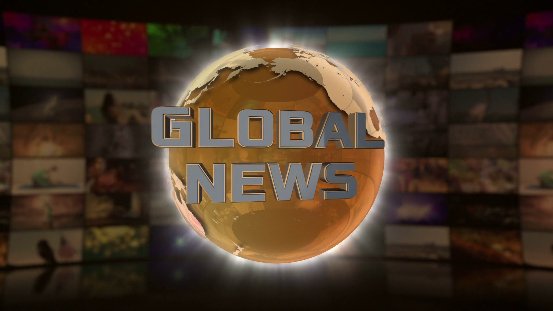 Global News On Screen 3D Animated Text Graphics | News Broadcast ...