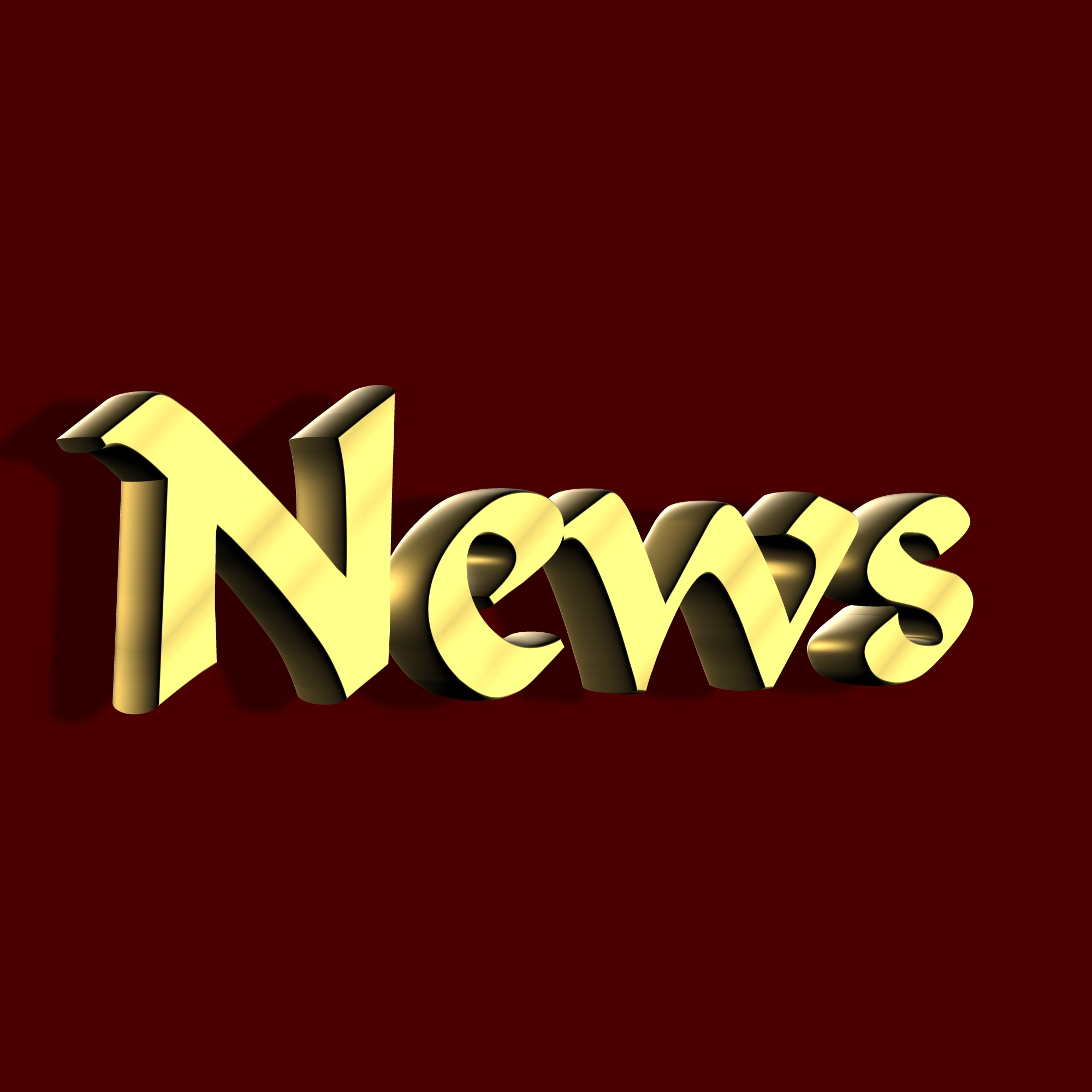 Golden News Text, 3dtext, Character, Golden, News, HQ Photo