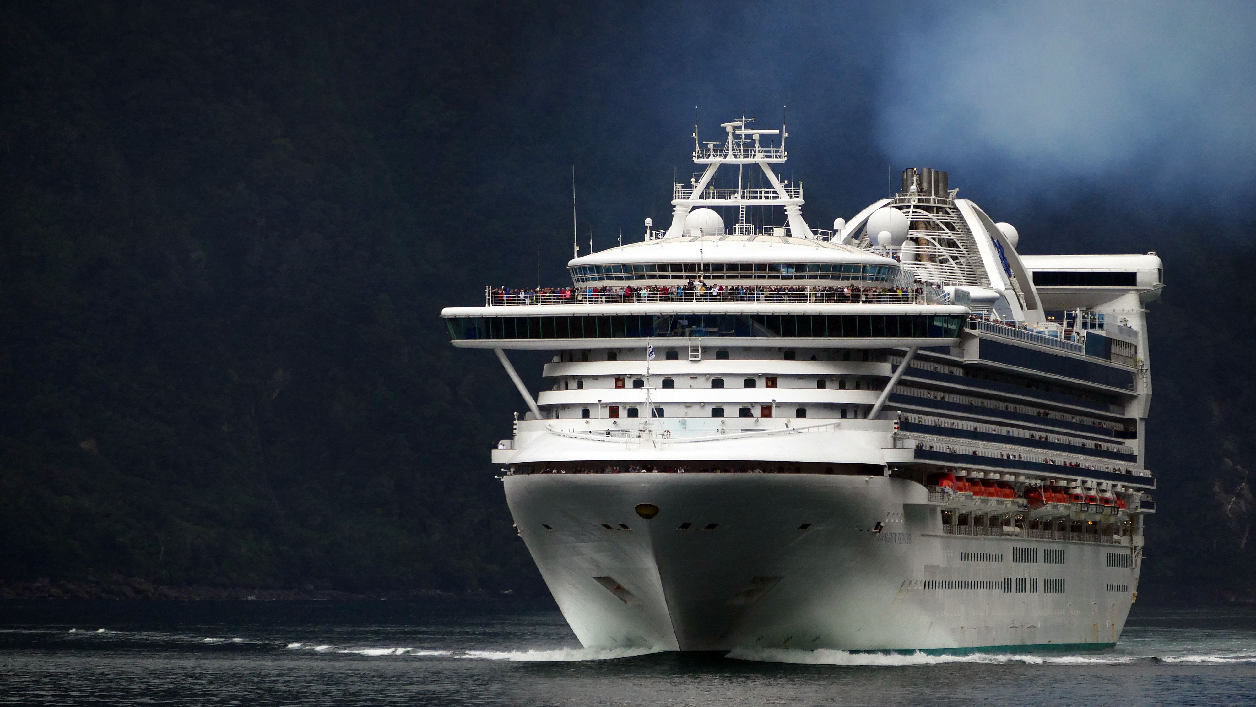 Golden Princess on Milford Sound., Super, Travel, Vehicle, Zoom, HQ Photo