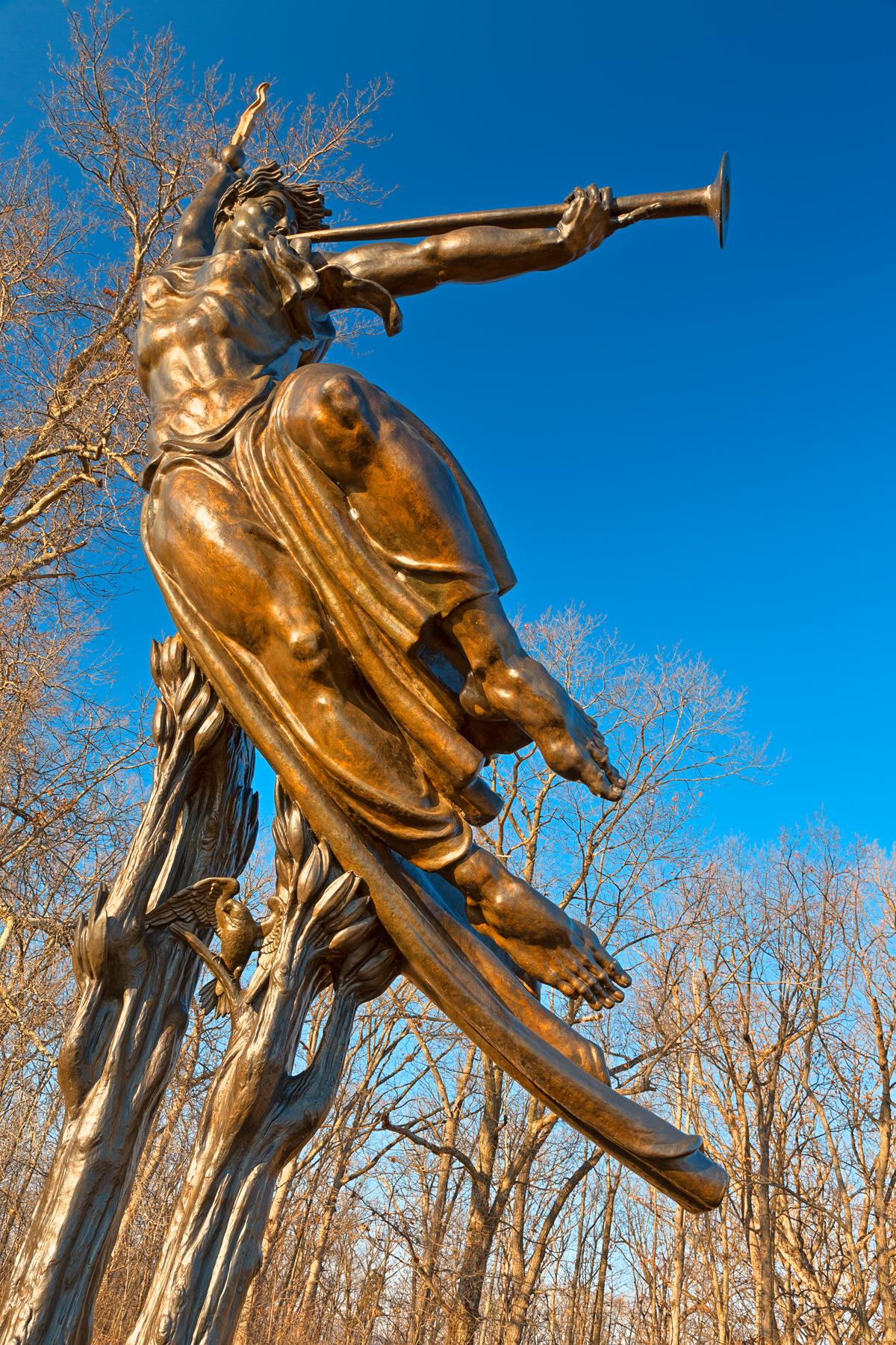 Golden Spirit of Louisiana - HDR, Age, Peace, Sculpture, Scene, HQ Photo