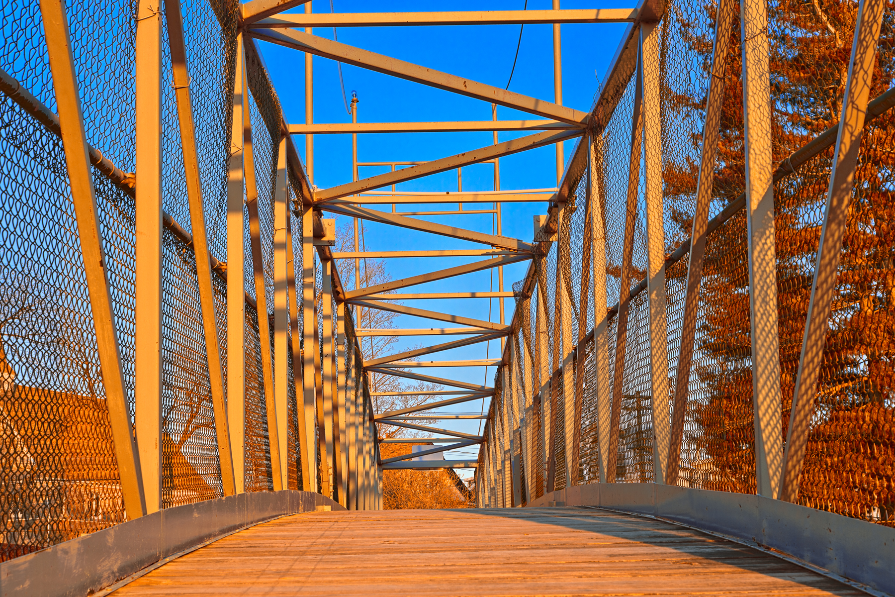 Golden sunset bridge - hdr photo