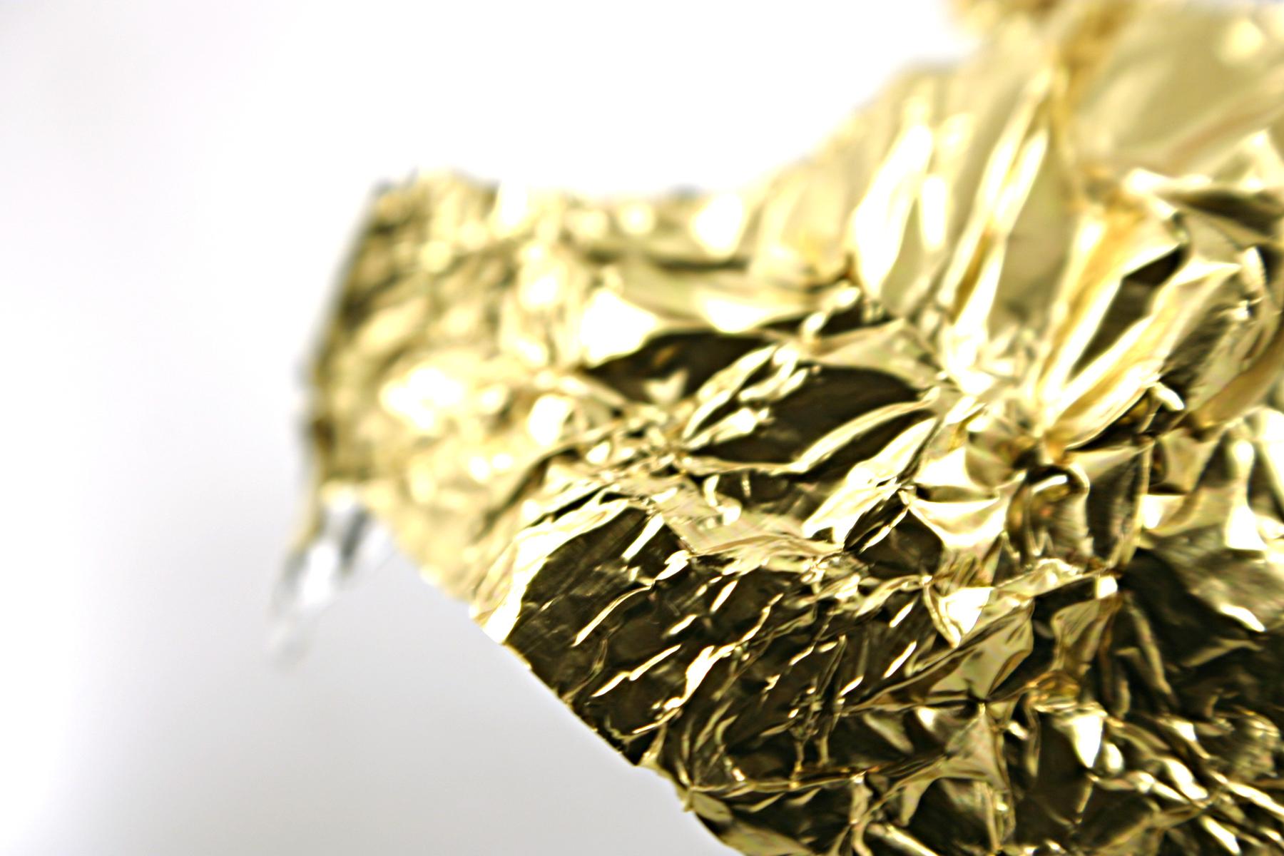 Golden tin foil photo