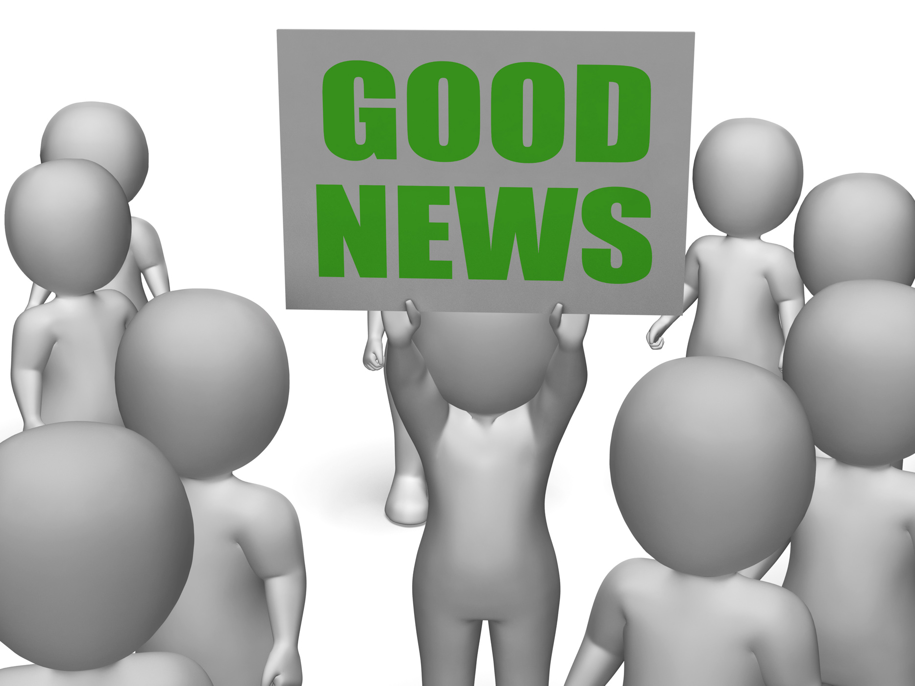 Good News Board Character Means Receiving Great News, Inspiration, Success, Succeed, Sign, HQ Photo