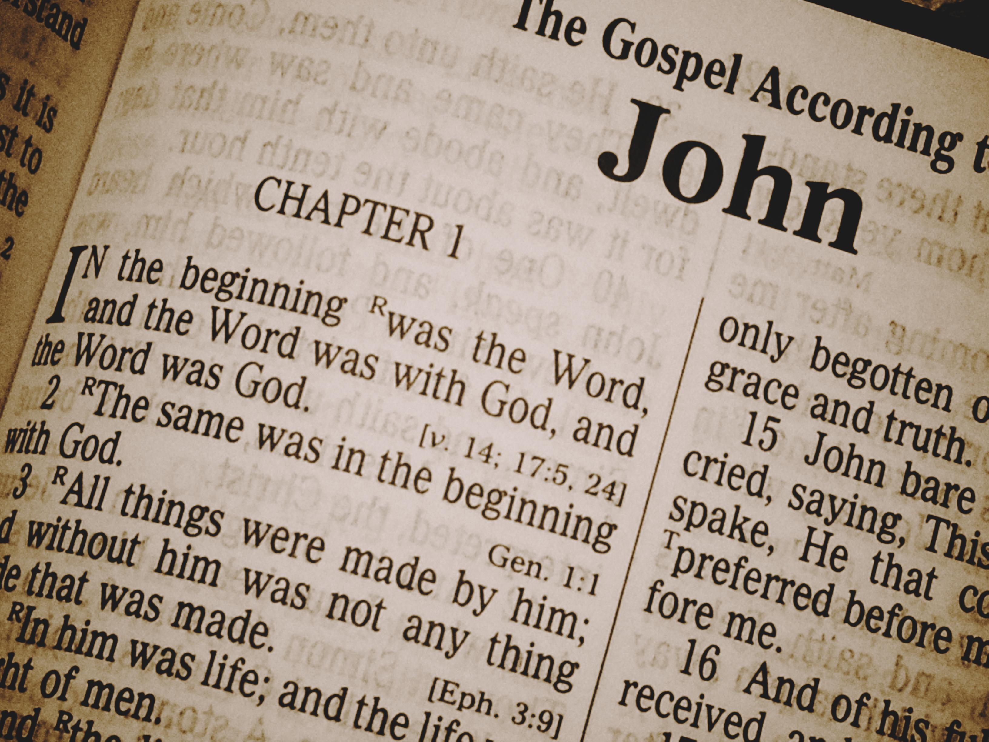 Gospel of john photo