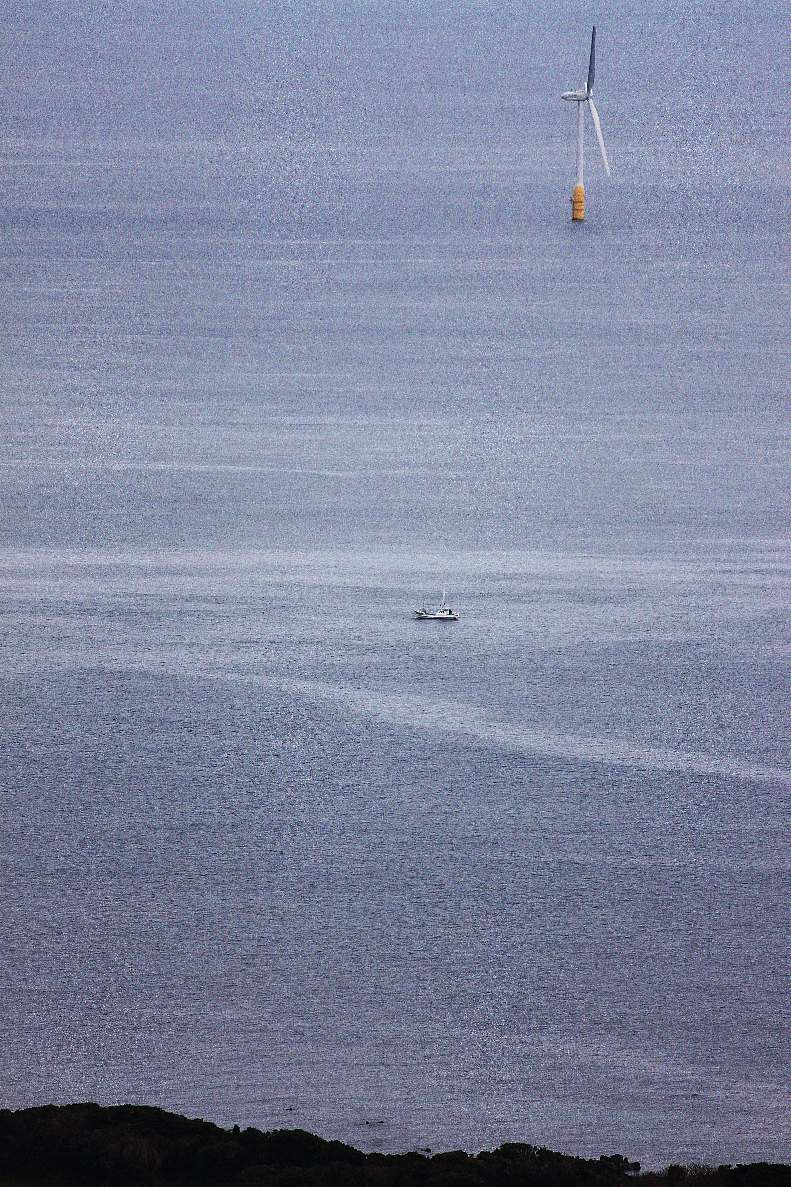 Goto Floating Offshore Wind Turbine (Sakiyama), Beach, Floating, Japan, Ocean, HQ Photo
