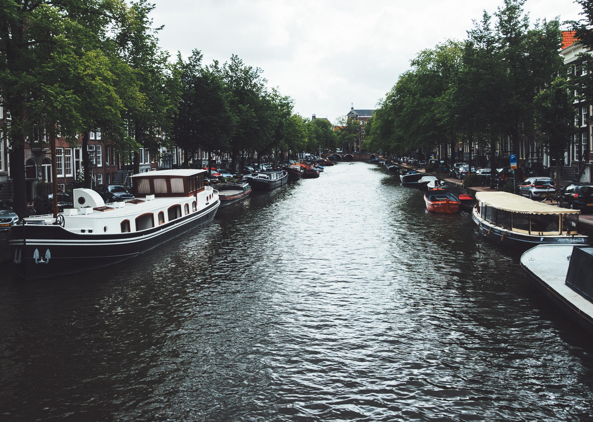 Grand canal over gray sky during daytime photo