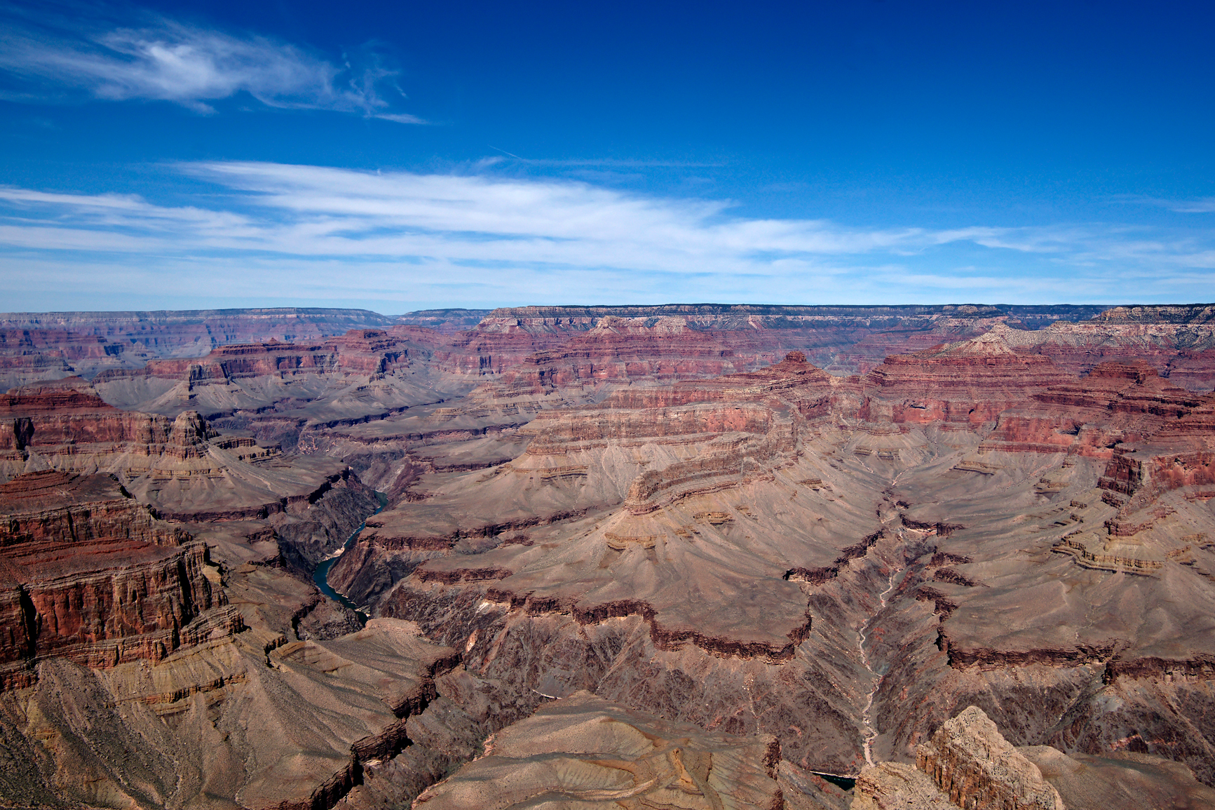 Grand canyon afternoon blue sky photo
