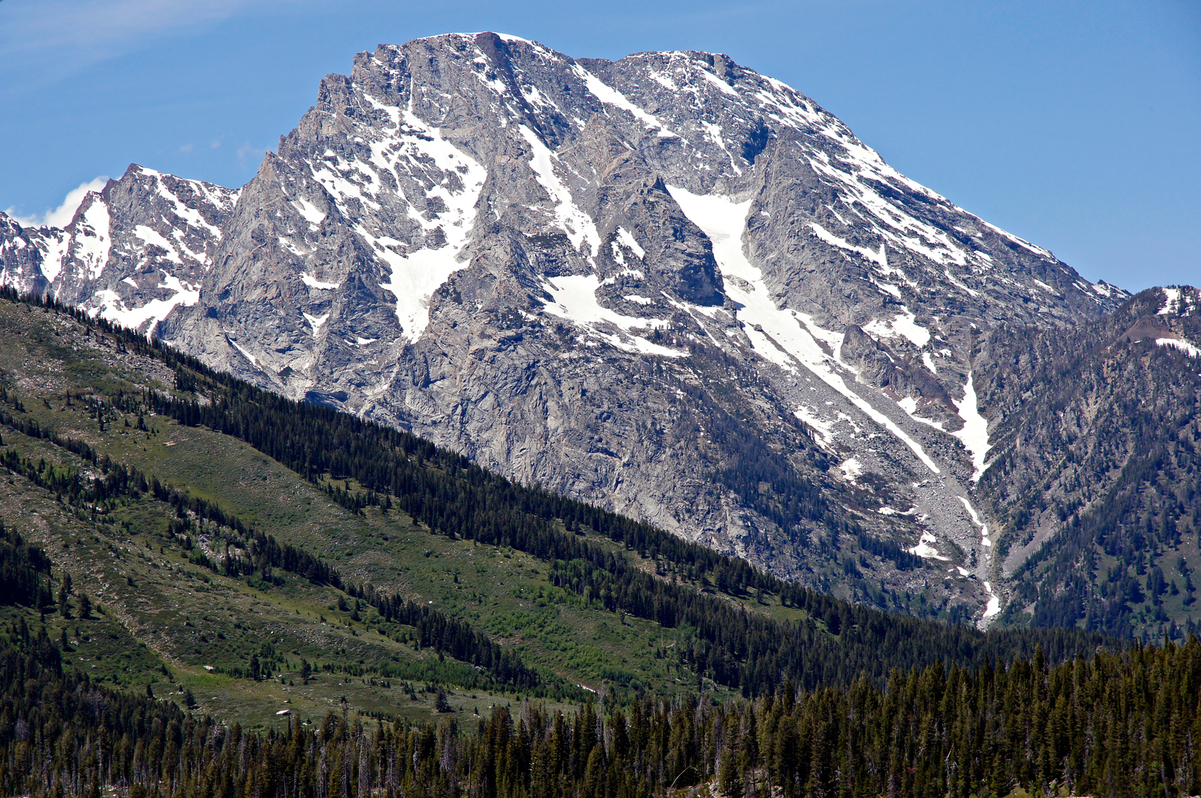 Grand tetons mountain and slope photo