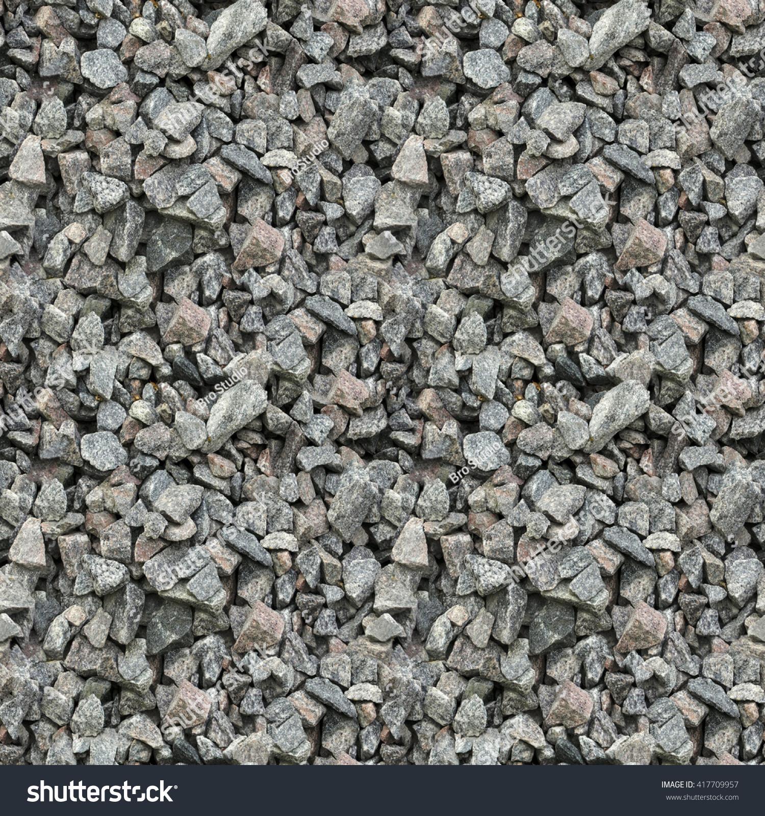 Seamless Pattern Texture Gravel Breakstone Chernobyl Stock Photo ...