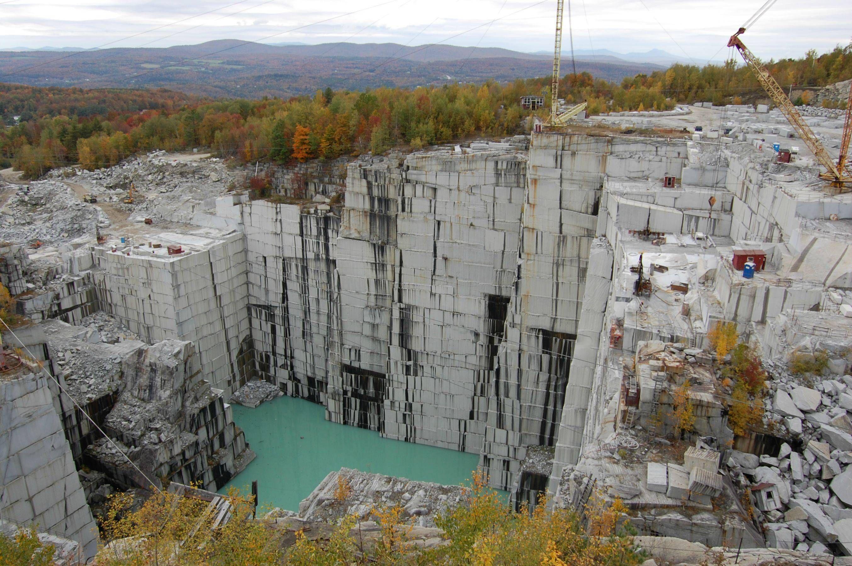 granite quarries | Rock of Ages Granite Quarry in Vermont, the ...