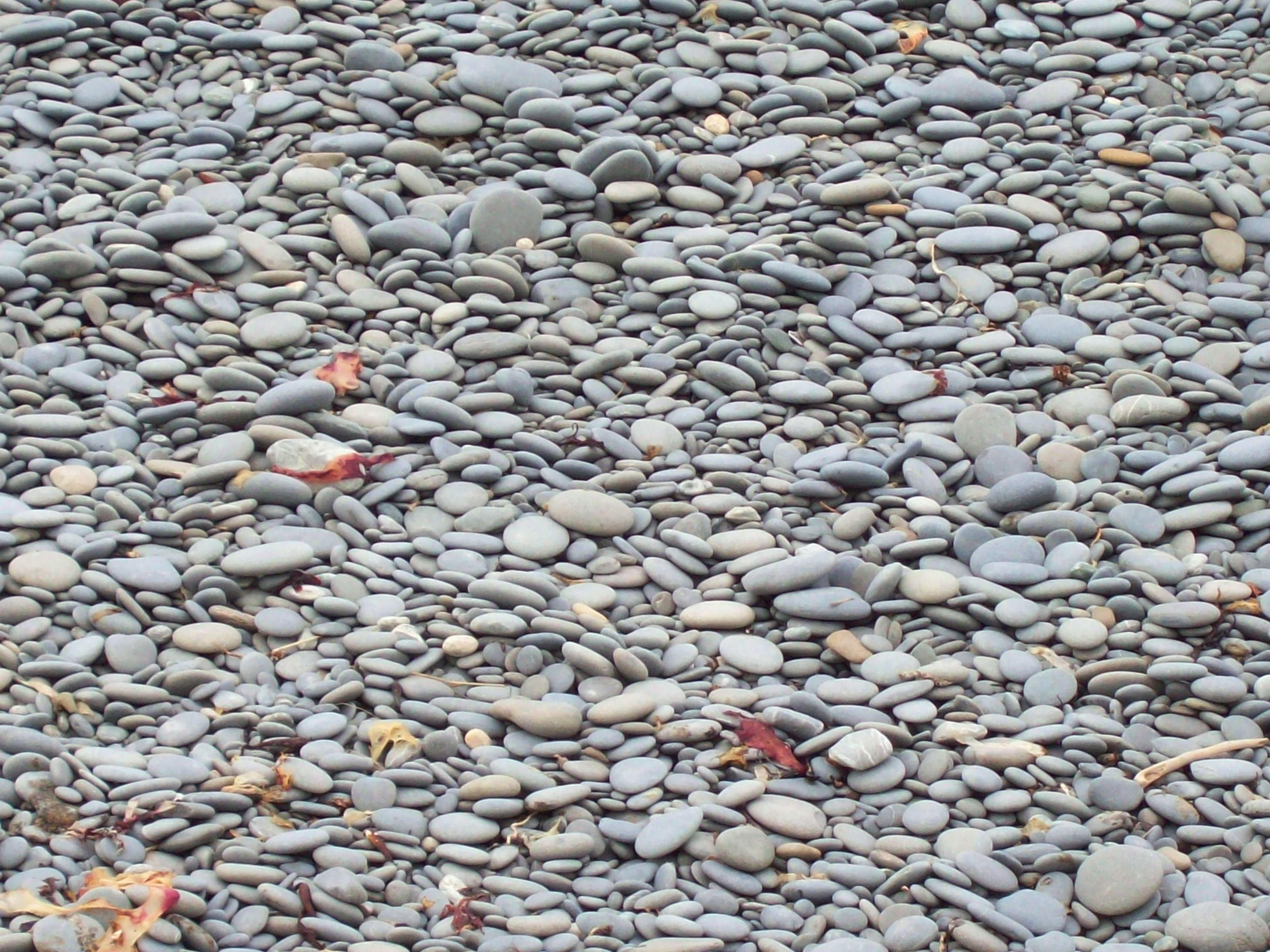 Granite pebbles - beached and sorted, Black, Granite, Pebbles, Red, HQ Photo