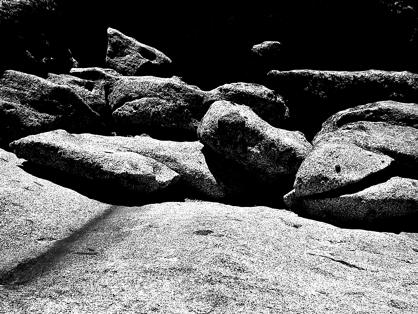 Granite, Blackandwhite, Black&white, Boulder, Boulders, HQ Photo