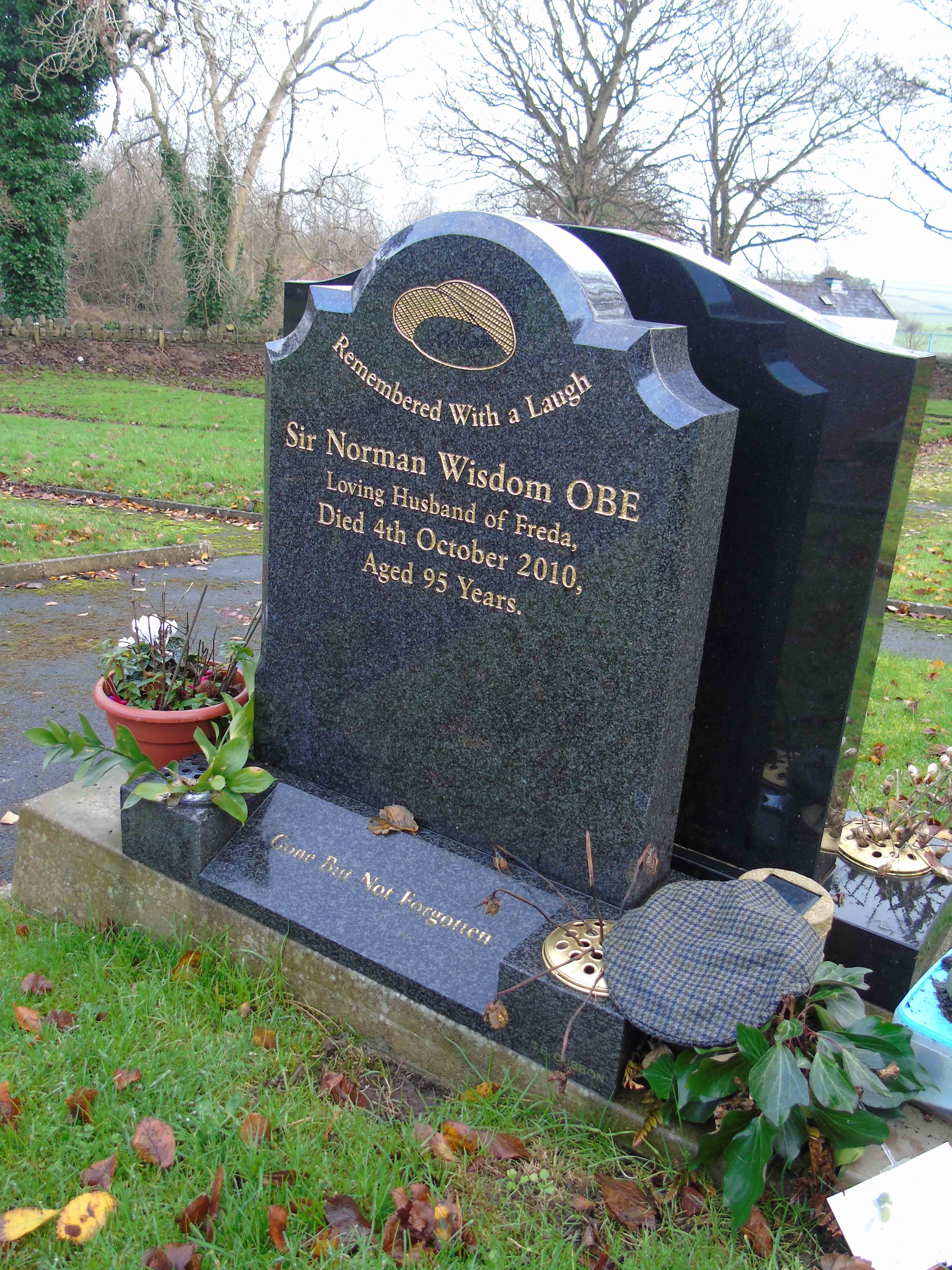"""Remembered With a Laugh"""" The Grave of Sir Norman Wisdom OBE ..."""