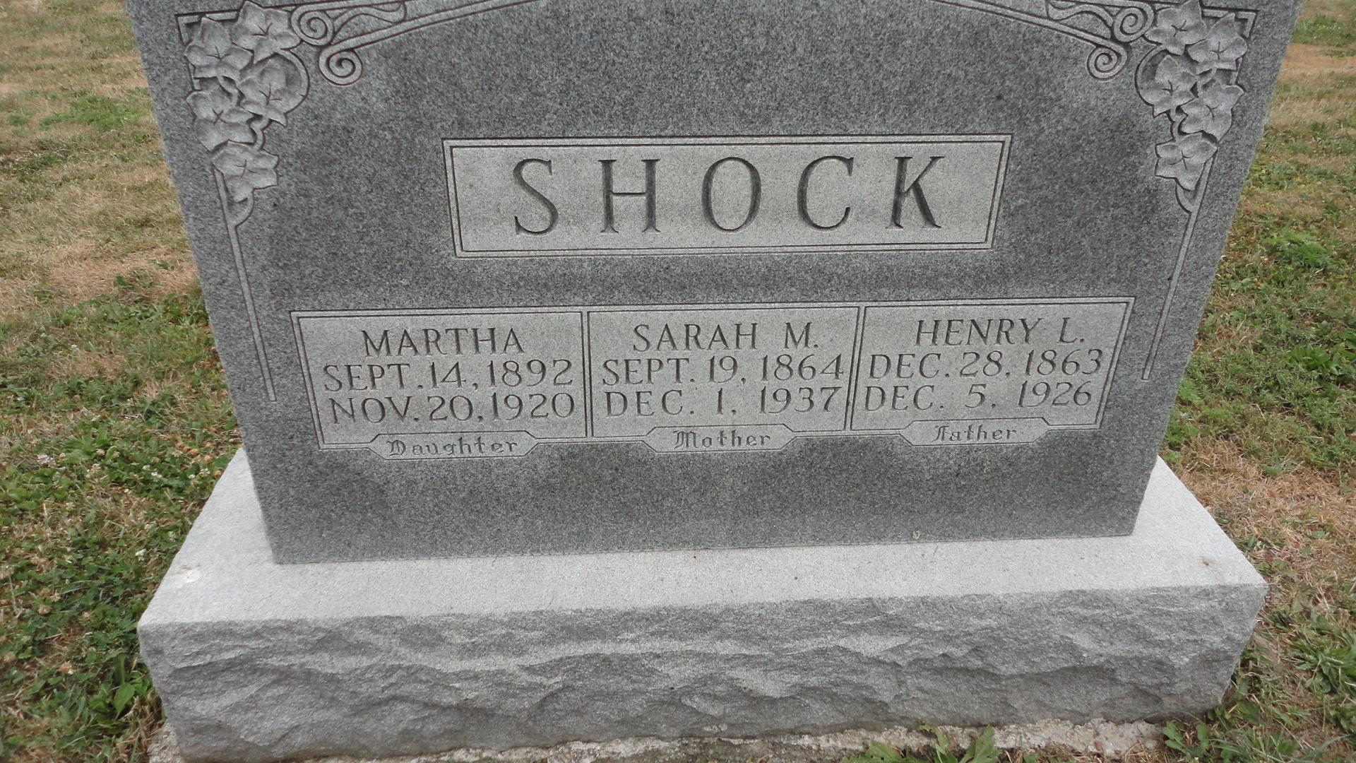 Sarah Matilda Lawhorn Shock (1864-1937) - Find A Grave Memorial