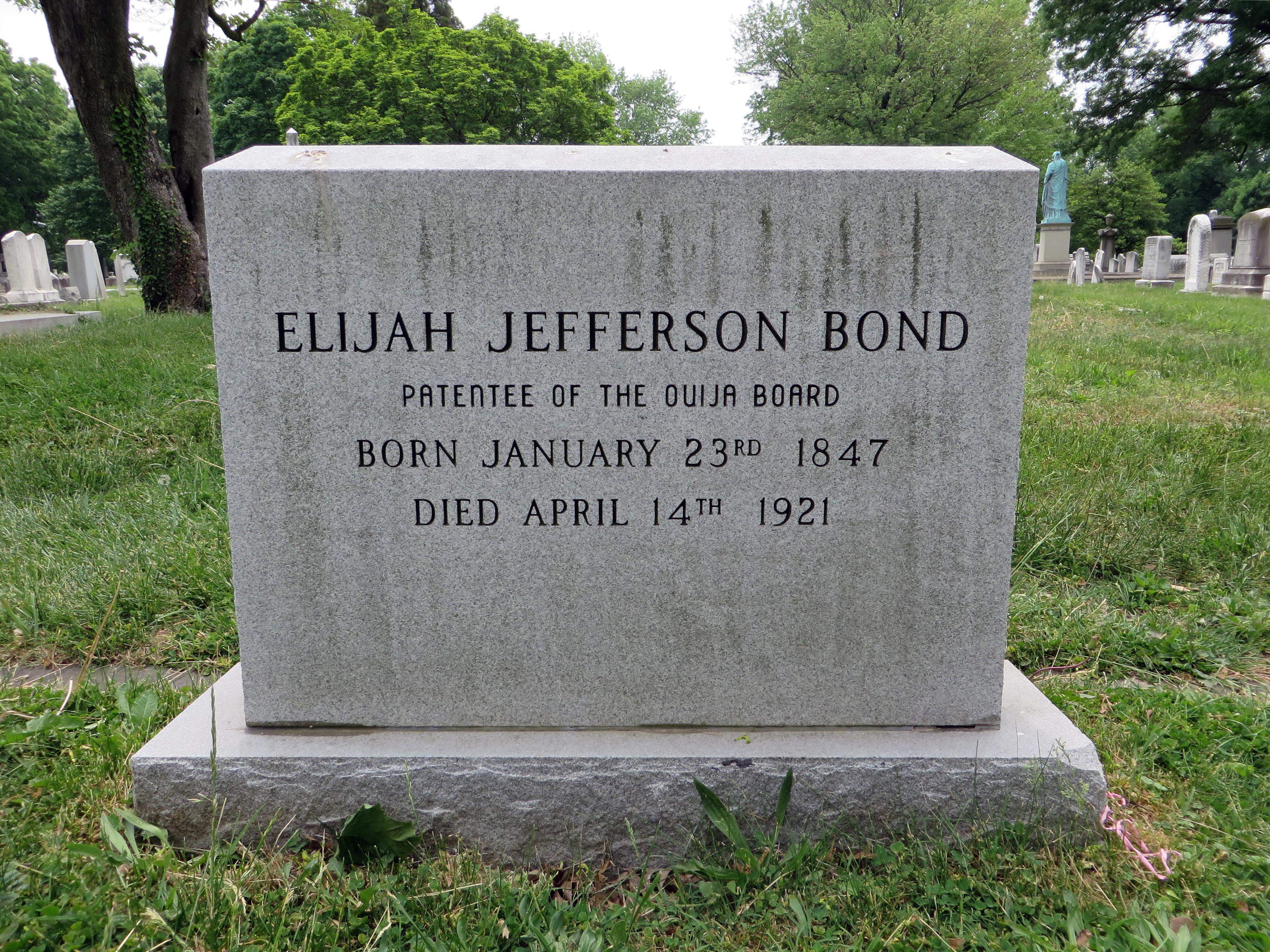 File:Elijah Jefferson Bond Gravestone Front Detail.jpg - Wikipedia