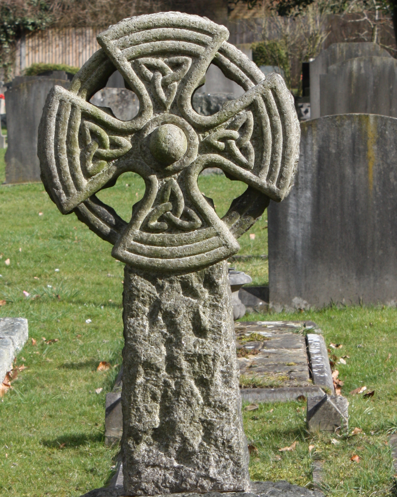 Gravestone, Carved, Celtic, Cemetery, Church, HQ Photo