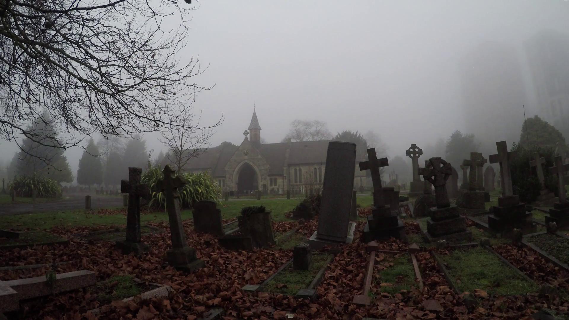 Unmarked gravestones at graveyard 4k Stock Video Footage - VideoBlocks